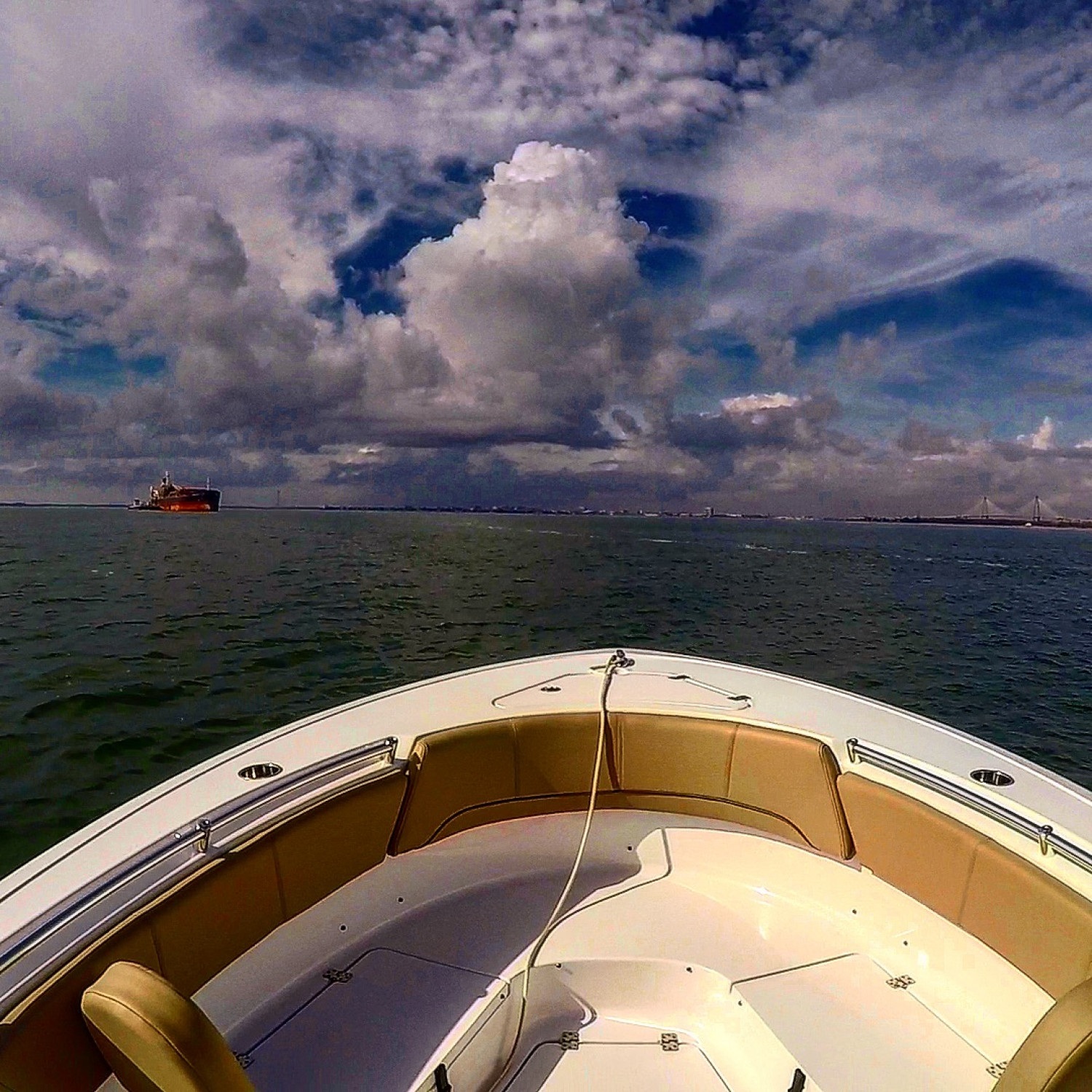 Title: Clouds over Bow - On board their Sportsman Heritage 231 Center Console - Location: Charleston, SC. Participating in the Photo Contest #SportsmanFebruary2018