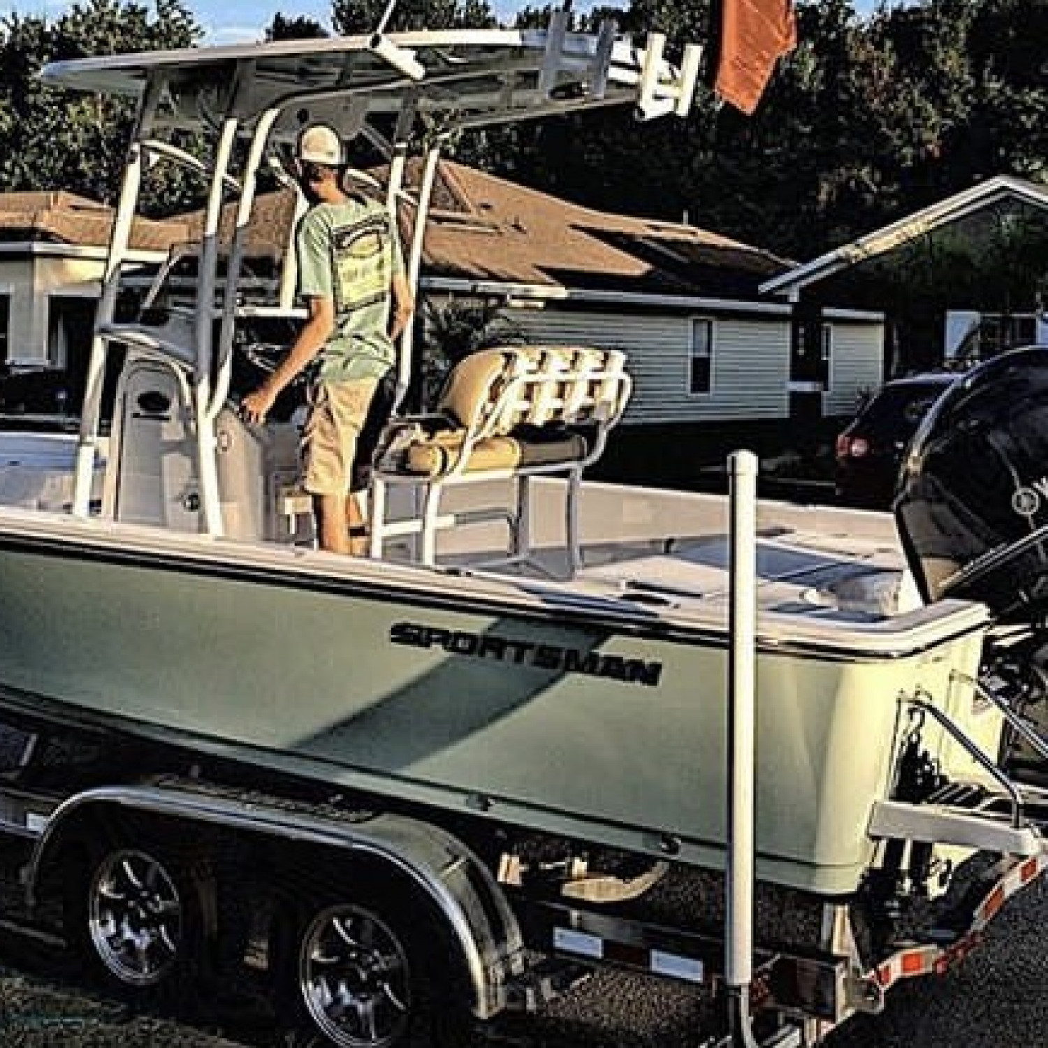 Title: clean boat is a happy boat - On board their Sportsman Masters 227 Bay Boat - Location: st.augustine, fl. Participating in the Photo Contest #SportsmanFebruary2018