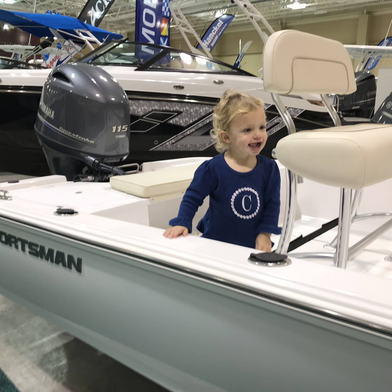 Title: Charleston Boat Show - On board their Sportsman Island Bay 18 Bay Boat - Location: Charleston, South Carolina. Participating in the Photo Contest #SportsmanFebruary2018