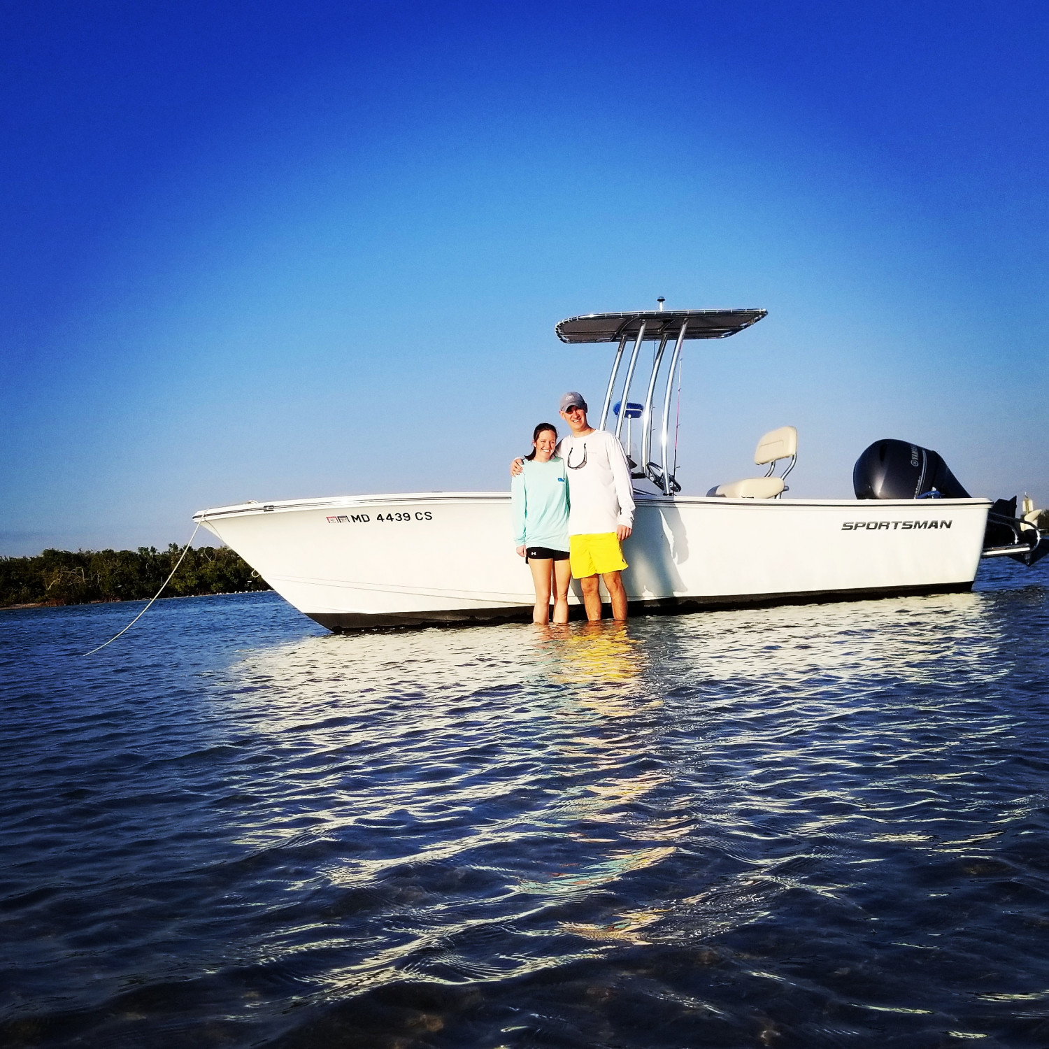 Title: Island hopping - On board their Sportsman Island Reef 19 Center Console - Location: Stump Pass State park, Florida. Participating in the Photo Contest #SportsmanJanuary2018