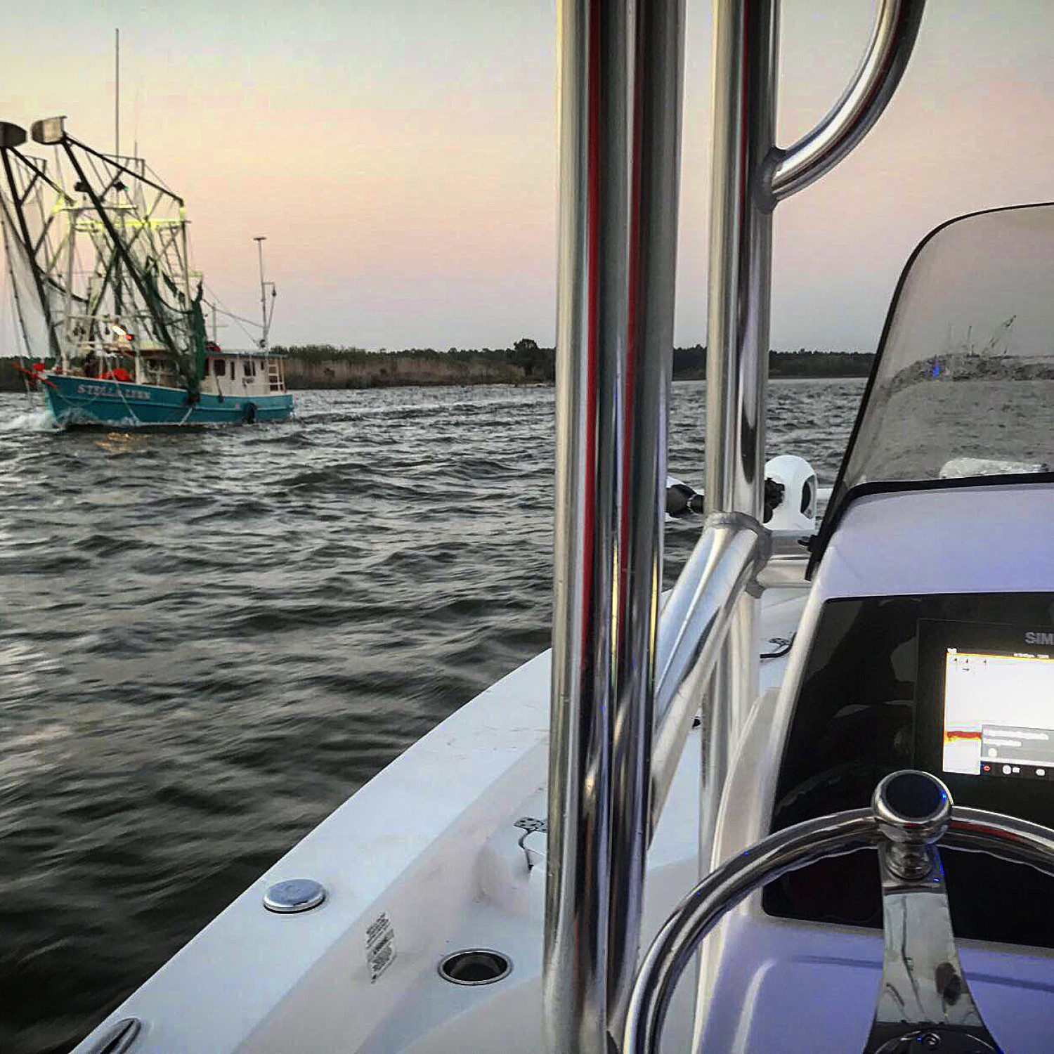 Title: Afternoon Delight - On board their Sportsman Masters 227 Bay Boat - Location: Bayou La Batre, Alabama. Participating in the Photo Contest #SportsmanJanuary2018