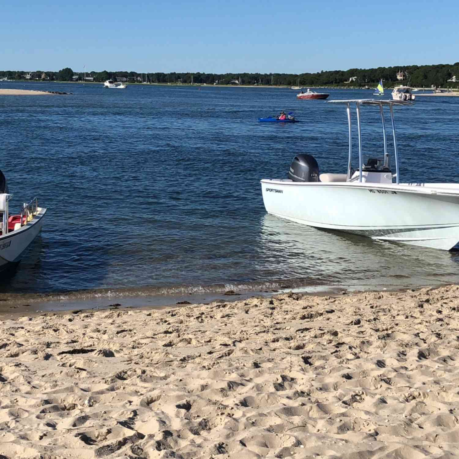 Title: Beach days - On board their Sportsman Island Reef 19 Center Console - Location: Osterville, Massachusetts. Participating in the Photo Contest #SportsmanJuly2018