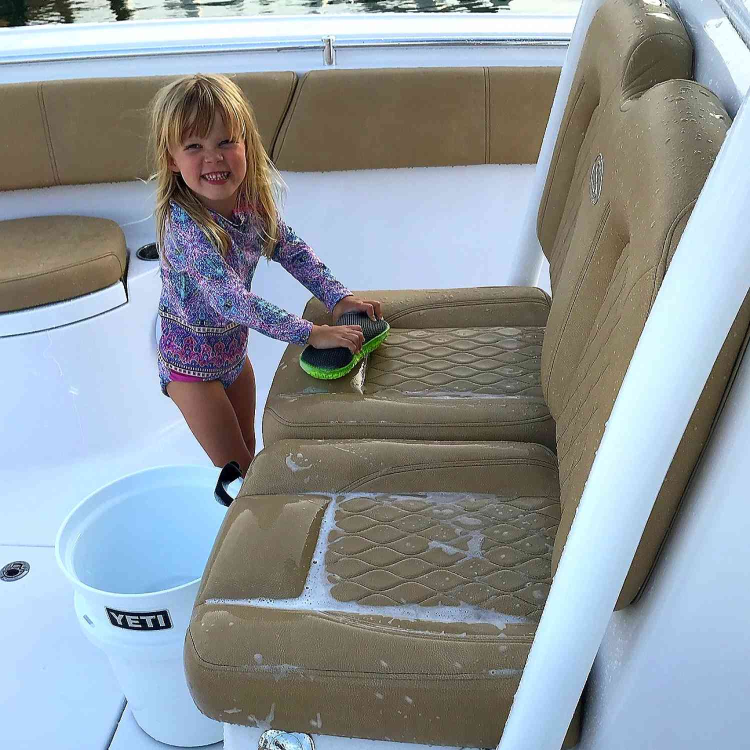 Title: Charlee Rose - On board their Sportsman Open 312 Center Console - Location: Tierra Verde, FL. Participating in the Photo Contest #SportsmanJuly2018