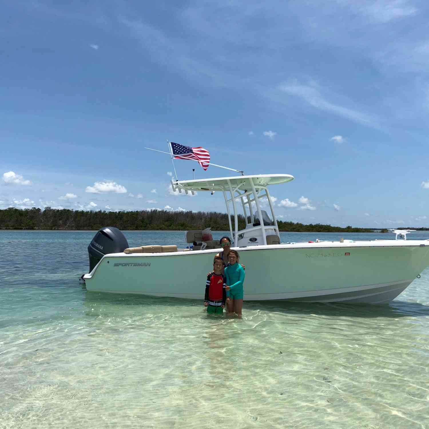 Title: Family Time at Marvin Key - On board their Sportsman Heritage 231 Center Console - Location: Big Pine Key, FL. Participating in the Photo Contest #SportsmanJuly2018