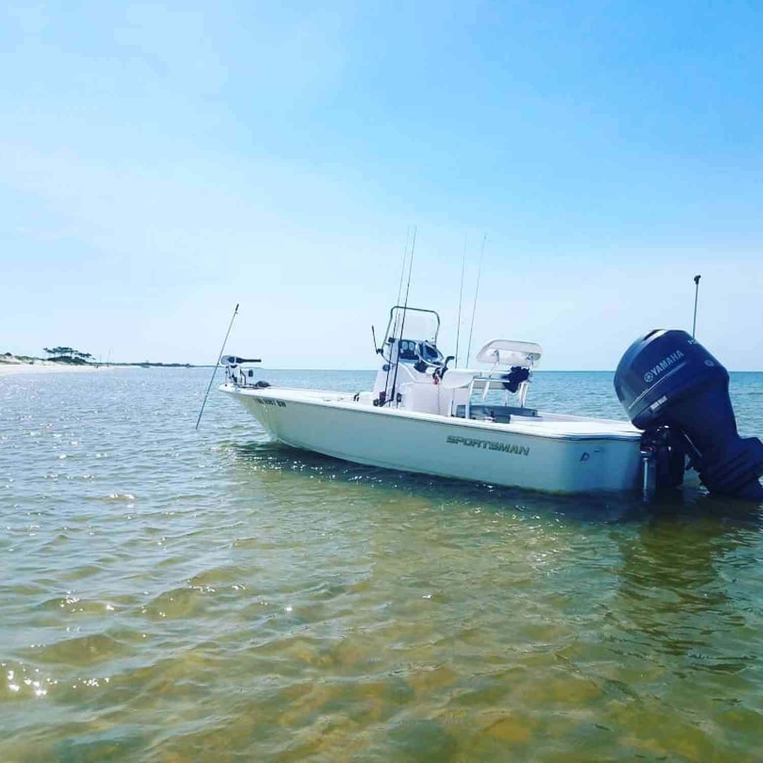 Title: Island Fishing - On board their Sportsman Tournament 214 SBX Bay Boat - Location: Horn Island, Ms. Participating in the Photo Contest #SportsmanJuly2018