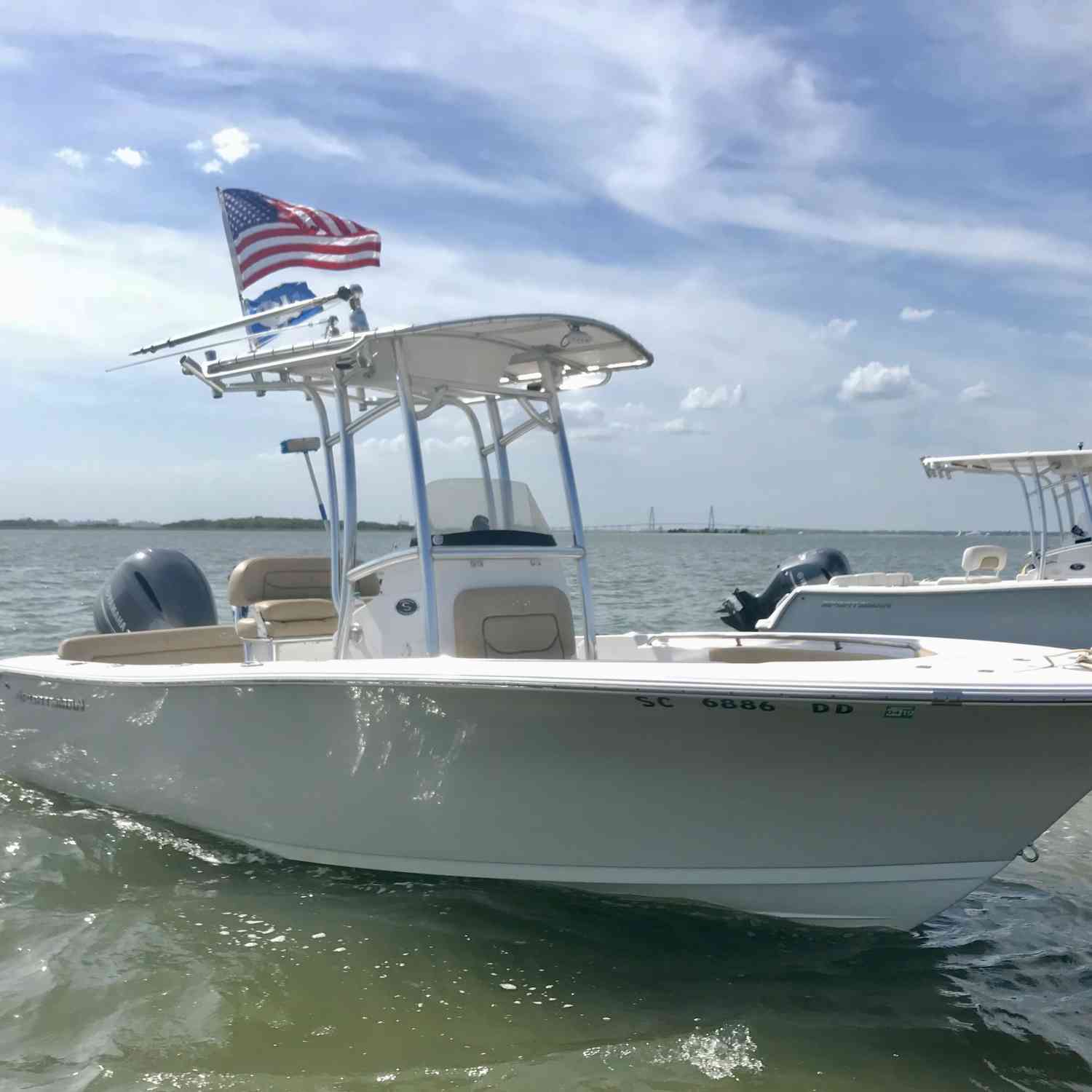 Title: Sportsman Heritage x2 - On board their Sportsman Heritage 211 Center Console - Location: Morris Island (Charleston, SC). Participating in the Photo Contest #SportsmanJuly2018