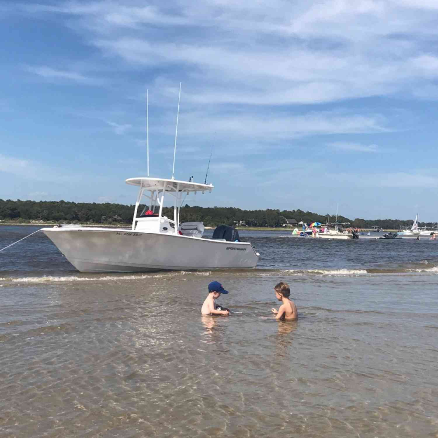 Title: Tides coming in! - On board their Sportsman Open 212 Center Console - Location: Oak Island NC. Participating in the Photo Contest #SportsmanJuly2018