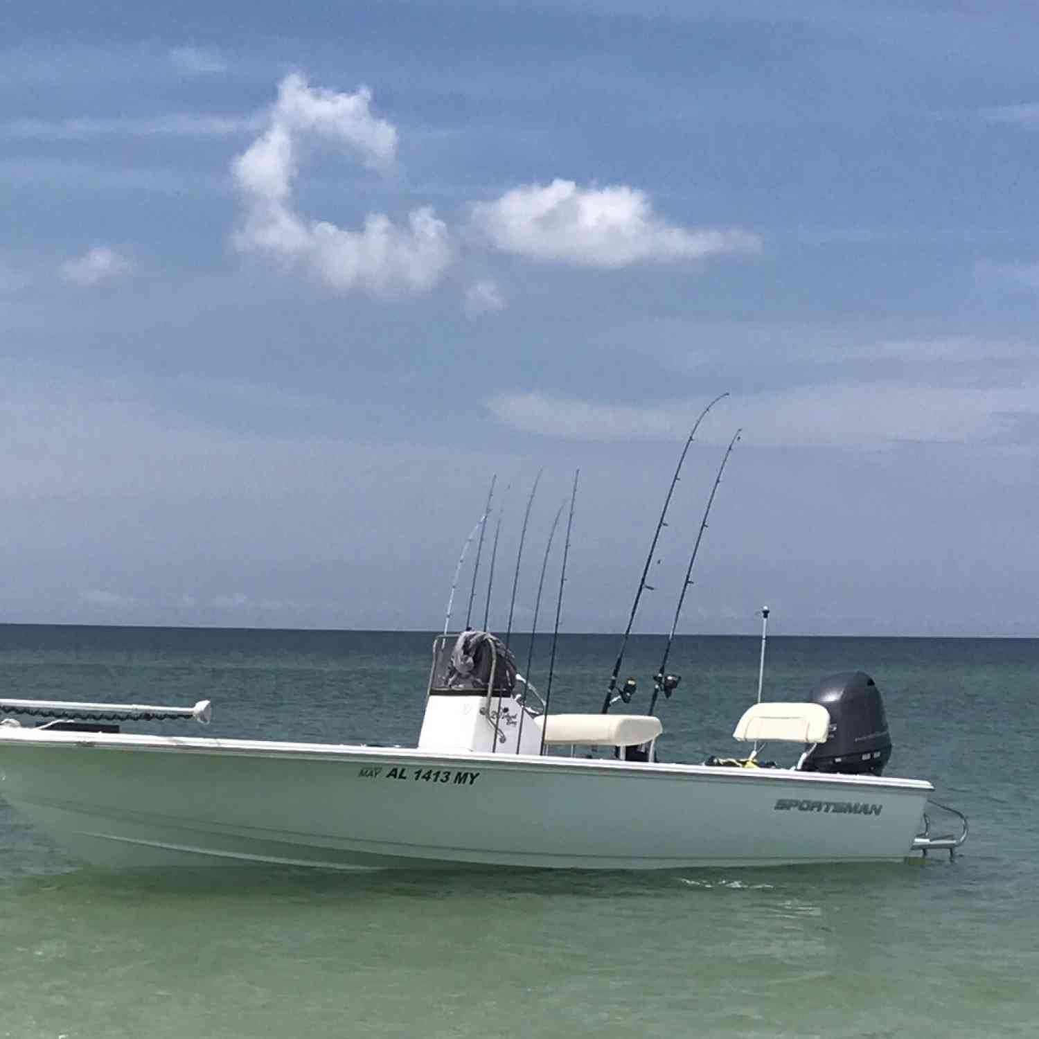 Title: Island off of an Island - On board their Sportsman Island Bay 20 Bay Boat - Location: Panama City Florida. Participating in the Photo Contest #SportsmanJuly2018