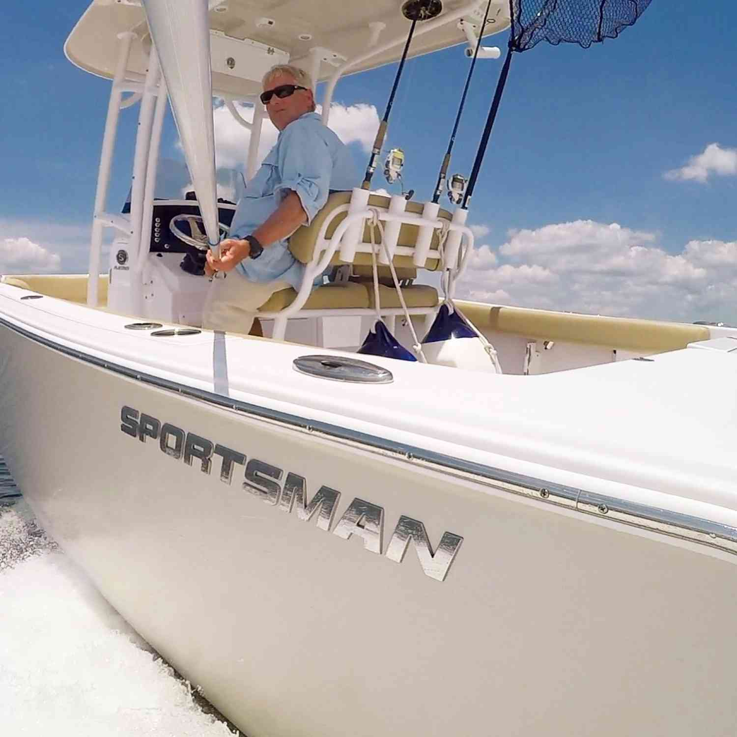 Title: Gone Fishing. - On board their Sportsman Heritage 231 Center Console - Location: Charleston Jetties. Participating in the Photo Contest #SportsmanJuly2018