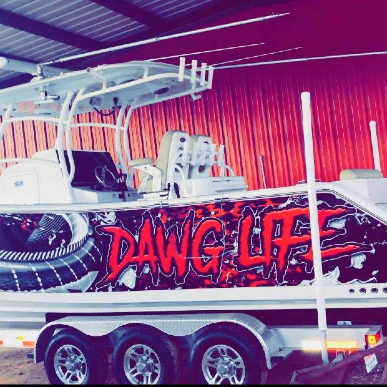 Title: DAWG LIFE - On board their Sportsman Open 312 Center Console - Location: Statesboro, ga. Participating in the Photo Contest #SportsmanJune2018
