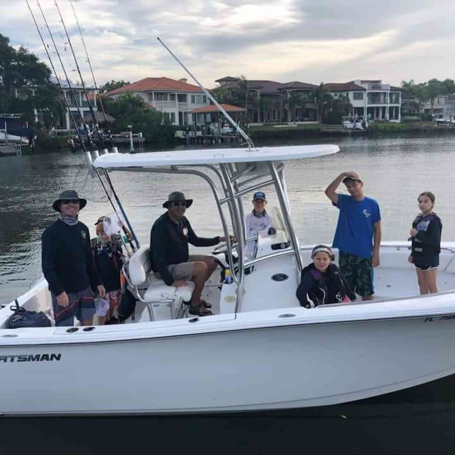 Title: Headed Out for Tournament Start - On board their Sportsman Heritage 231 Center Console - Location: Tampa, FL. Participating in the Photo Contest #SportsmanJune2018