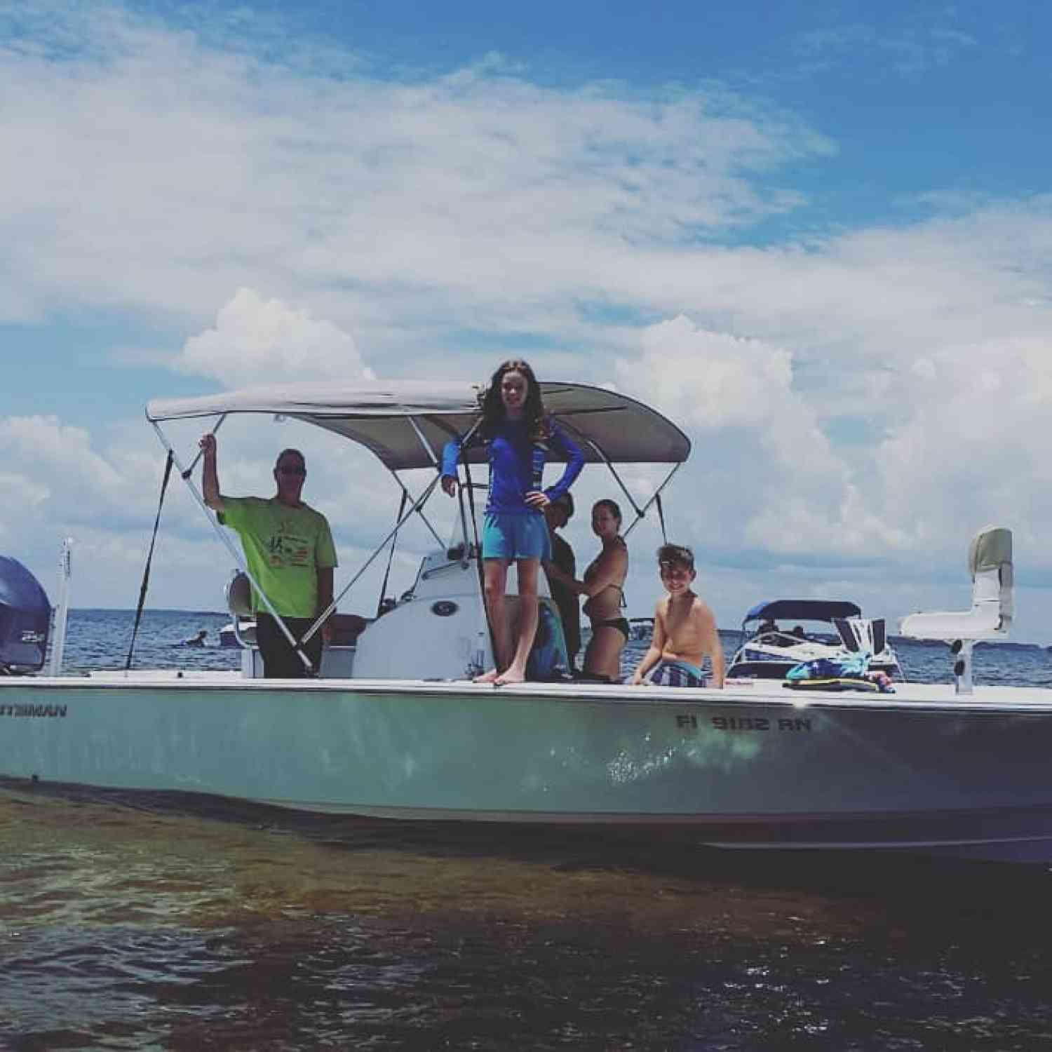 Title: Sportsman Brings Family Together - On board their Sportsman Masters 247 Bay Boat - Location: St. Mark's. Participating in the Photo Contest #SportsmanJune2018