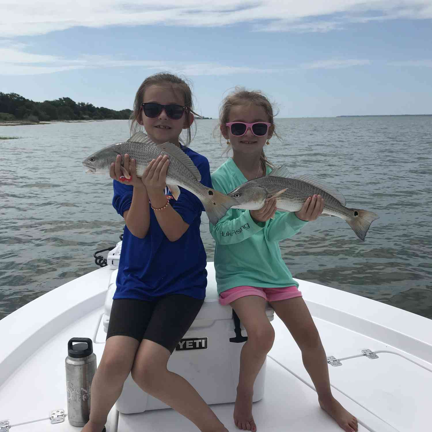Title: Their first redfish trip - On board their Sportsman Masters 227 Bay Boat - Location: Beaufort South Carolina. Participating in the Photo Contest #SportsmanJune2018