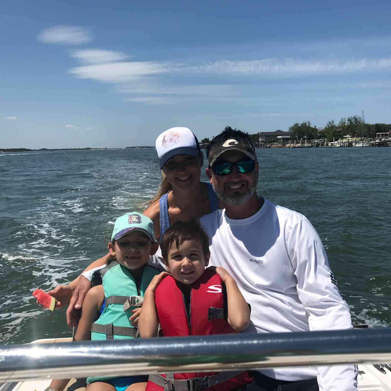 Title: Family time - On board their Sportsman Tournament 214 Bay Boat - Location: New Symrna Beach, FL. Participating in the Photo Contest #SportsmanJune2018