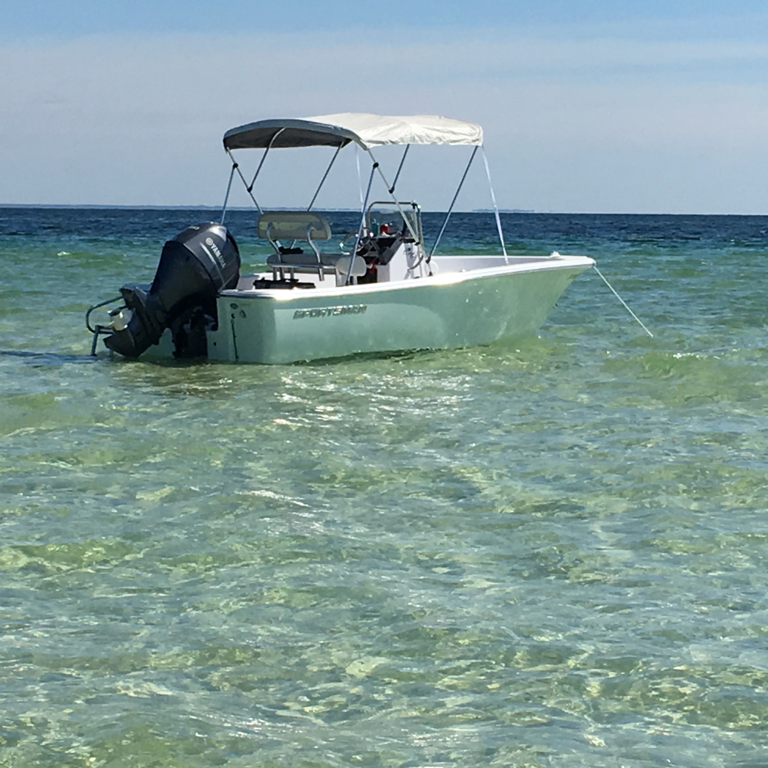 Title: Cape San Blas - On board their Sportsman Island Reef 17 Center Console - Location: Off the state park. Participating in the Photo Contest #SportsmanMarch2018
