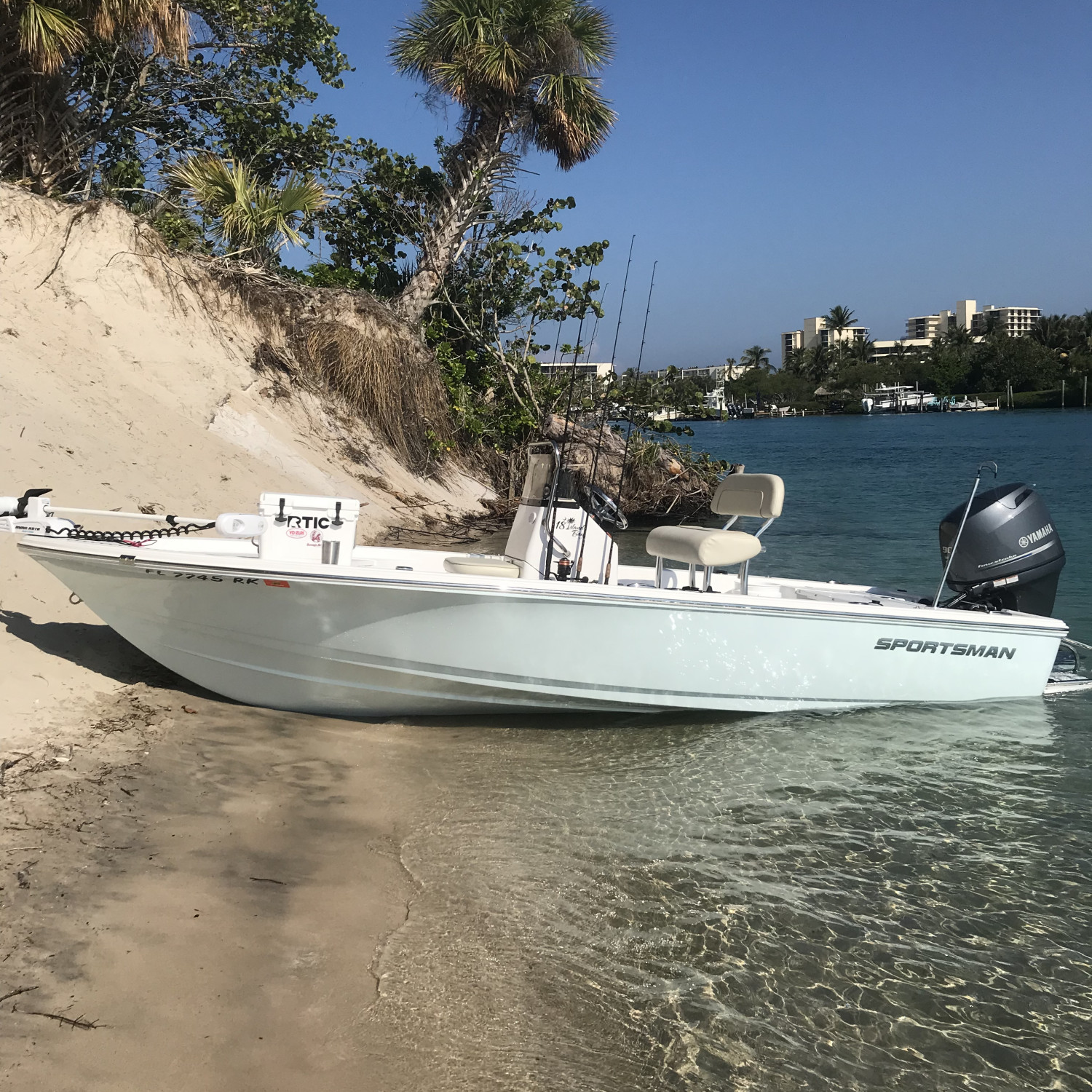 Title: From fishin to chillin - On board their Sportsman Island Bay 18 Bay Boat - Location: Jupiter FL. Participating in the Photo Contest #SportsmanMarch2018
