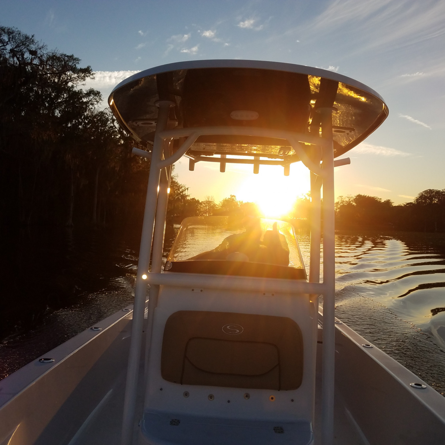Title: Evening cruise - On board their Sportsman Masters 247 Bay Boat - Location: Lake County, Florida. Participating in the Photo Contest #SportsmanMarch2018