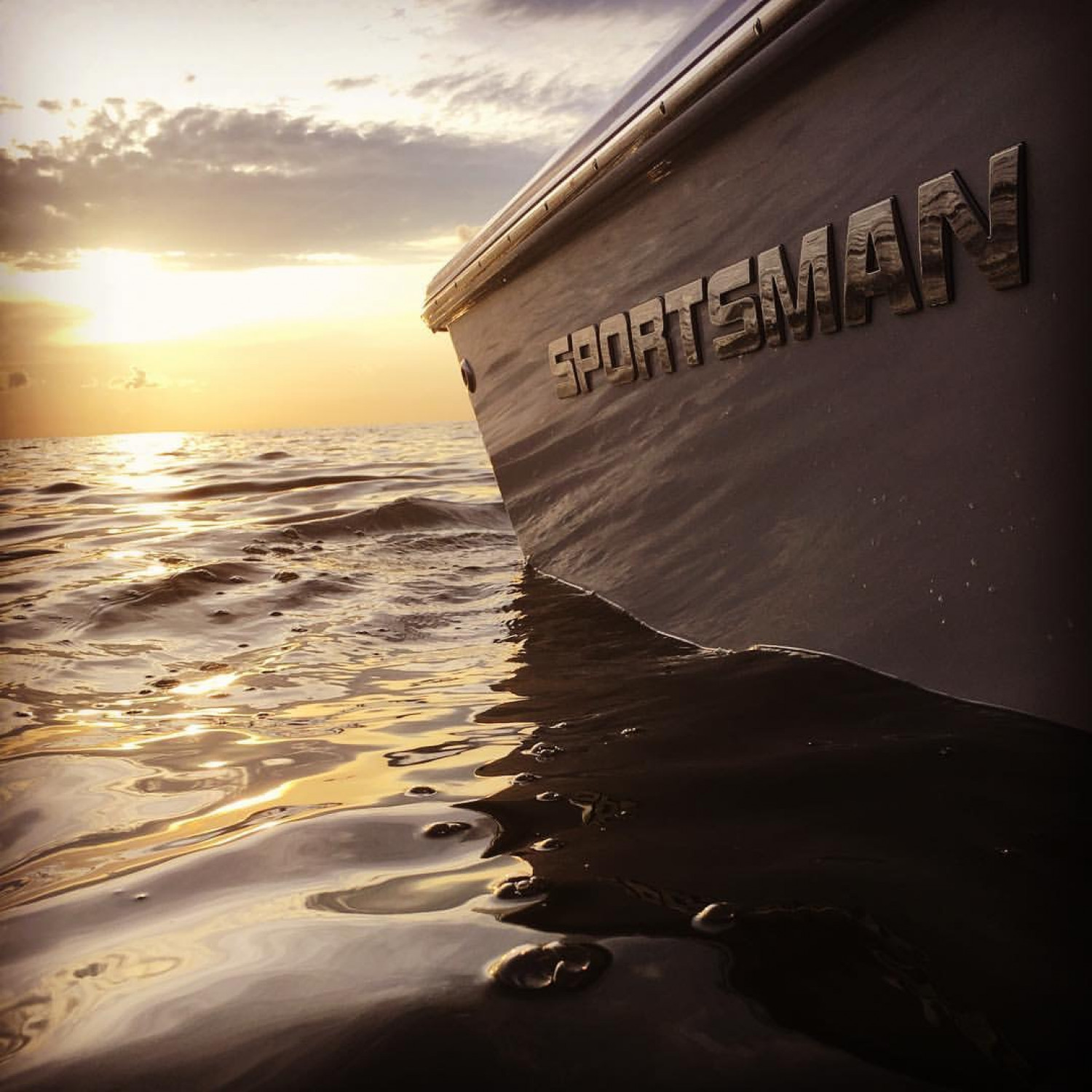 Title: A SPORTSMAN sunset - On board their Sportsman Masters 227 Bay Boat - Location: Grand Isle, LA. Participating in the Photo Contest #SportsmanMarch2018