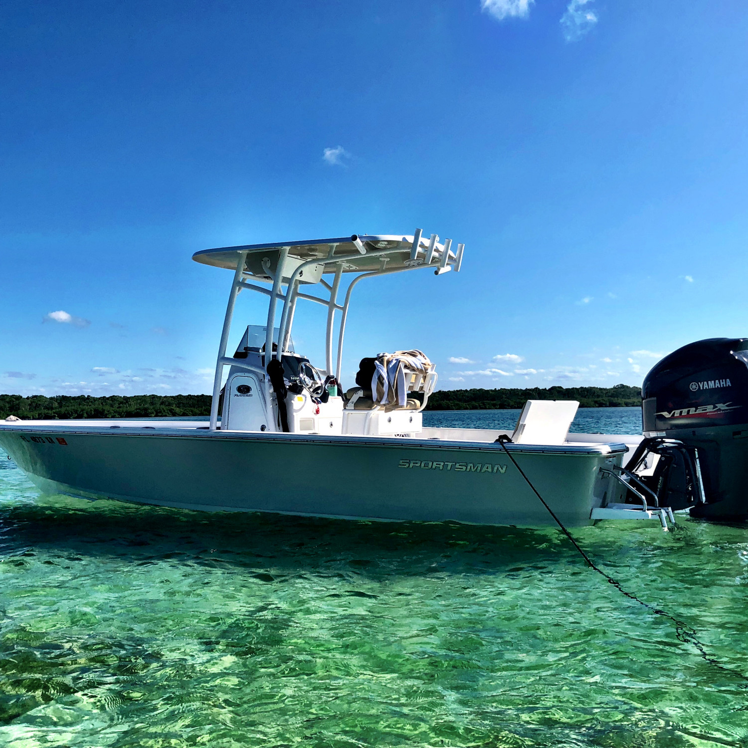Title: Sandbar Bummin' - On board their Sportsman Masters 247 Bay Boat - Location: Miami, FL. Participating in the Photo Contest #SportsmanMarch2018