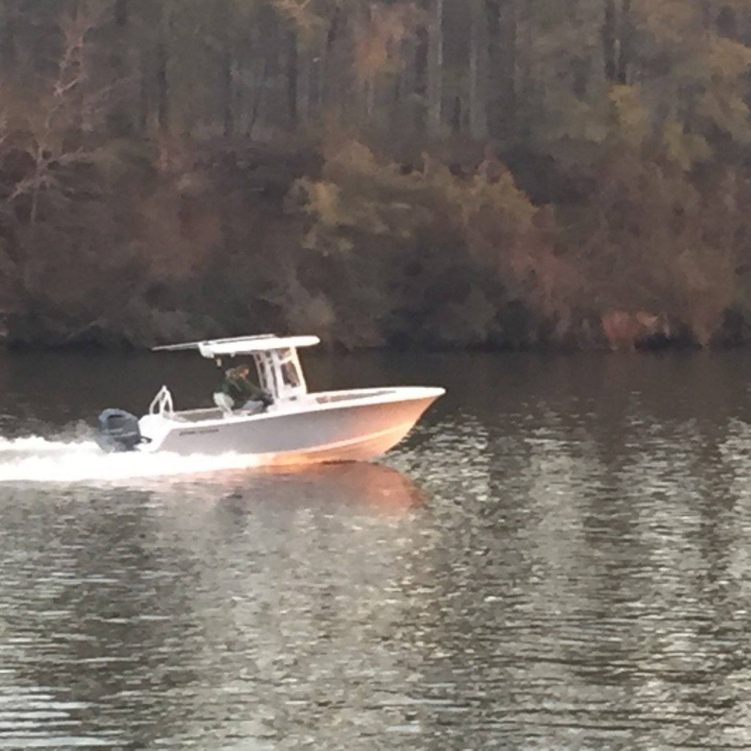 Title: Breaking her in - On board their Sportsman Heritage 231 Center Console - Location: Columbia, AL.. Participating in the Photo Contest #SportsmanMarch2018