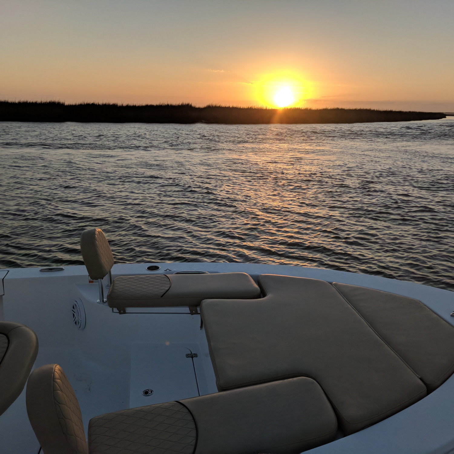 Title: Sunset after a great day. - On board their Sportsman Masters 227 Bay Boat - Location: Savannah ga. Participating in the Photo Contest #SportsmanMarch2018