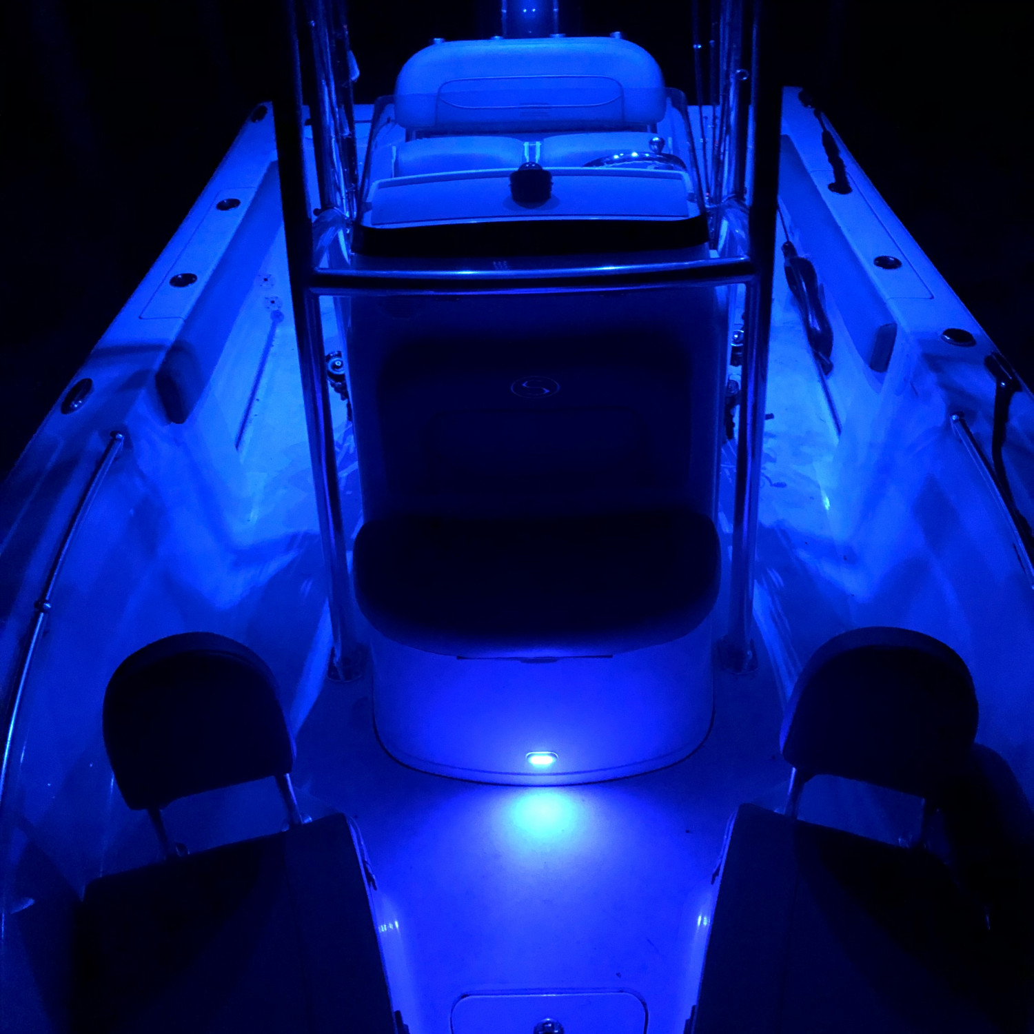 Title: Cool at night - On board their Sportsman Open 212 Center Console - Location: Upstate South Carolina. Participating in the Photo Contest #SportsmanMarch2018
