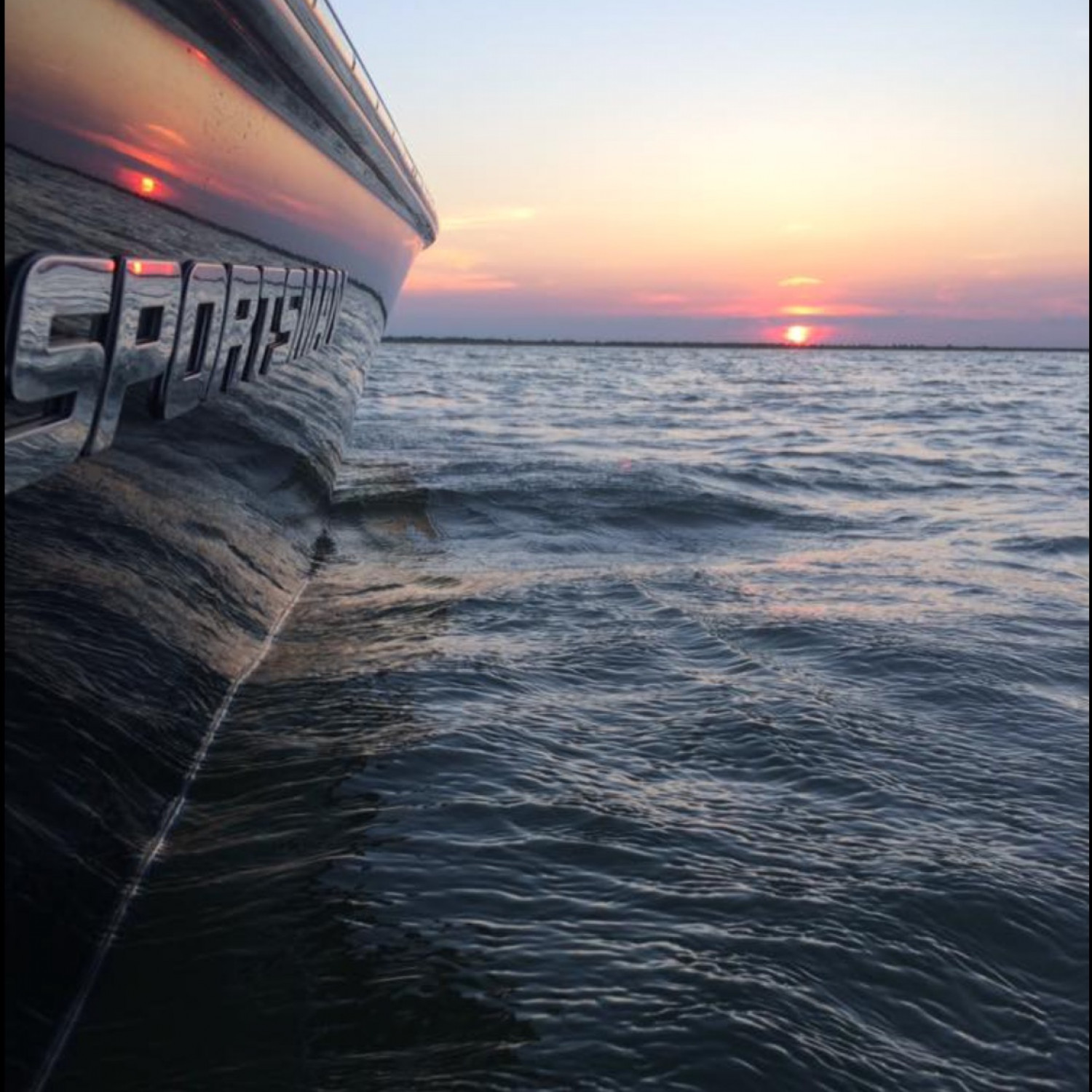 Title: Galveston bay sunset - On board their Sportsman Masters 227 Bay Boat - Location: Galveston, TX. Participating in the Photo Contest #SportsmanMarch2018