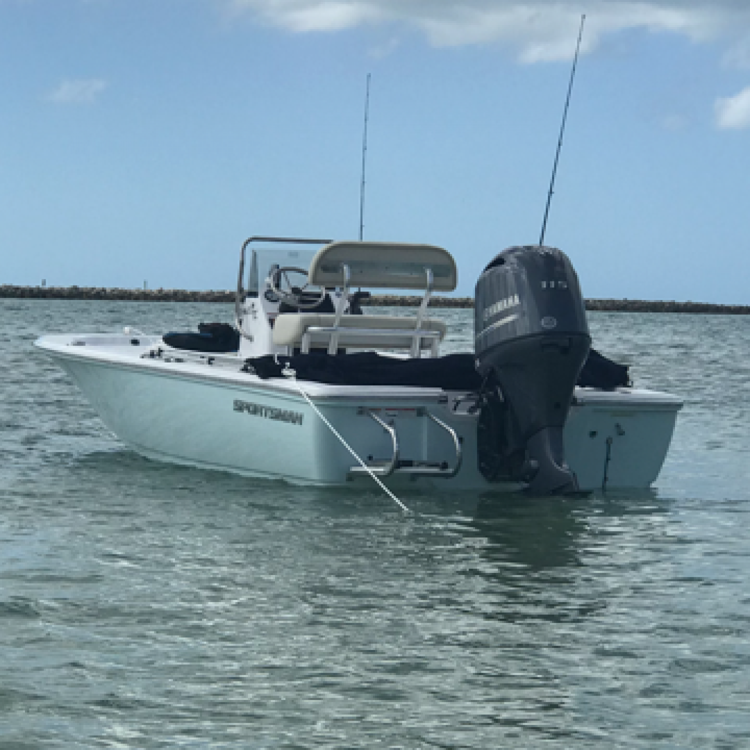 Title: The 20 Island Bay's 1st Day on the water! - On board their Sportsman Island Bay 20 Bay Boat - Location: Clearwater, FL. Participating in the Photo Contest #SportsmanMarch2018