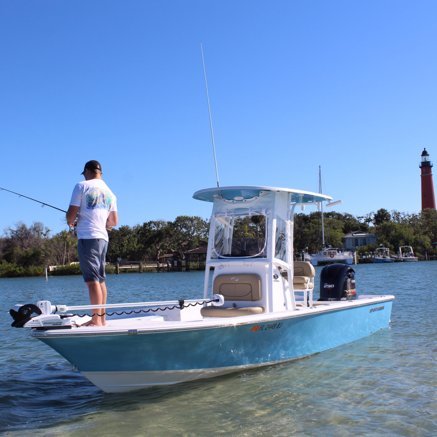 Title: On The Water - On board their Sportsman Masters 247 Bay Boat - Location: Ponce Inlet, FL. Participating in the Photo Contest #SportsmanMay2018