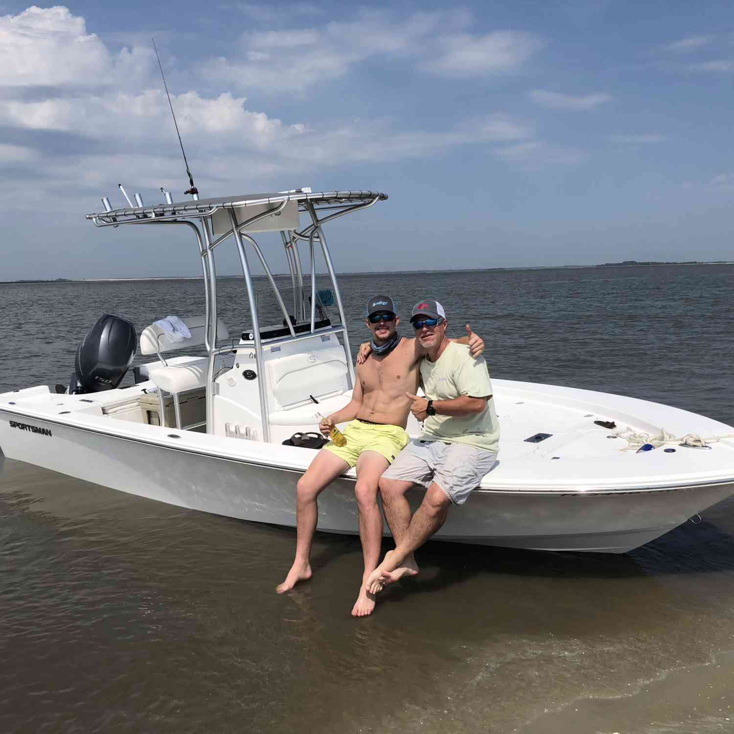 Title: Sitting on Sapelo Island - On board their Sportsman Masters 227 Bay Boat - Location: Darien, Ga. Participating in the Photo Contest #SportsmanMay2018