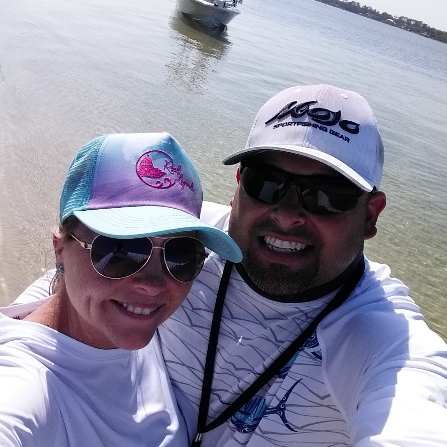 Title: Loving our boat - On board their Sportsman Island Bay 20 Bay Boat - Location: Destin Fl. Participating in the Photo Contest #SportsmanMay2018