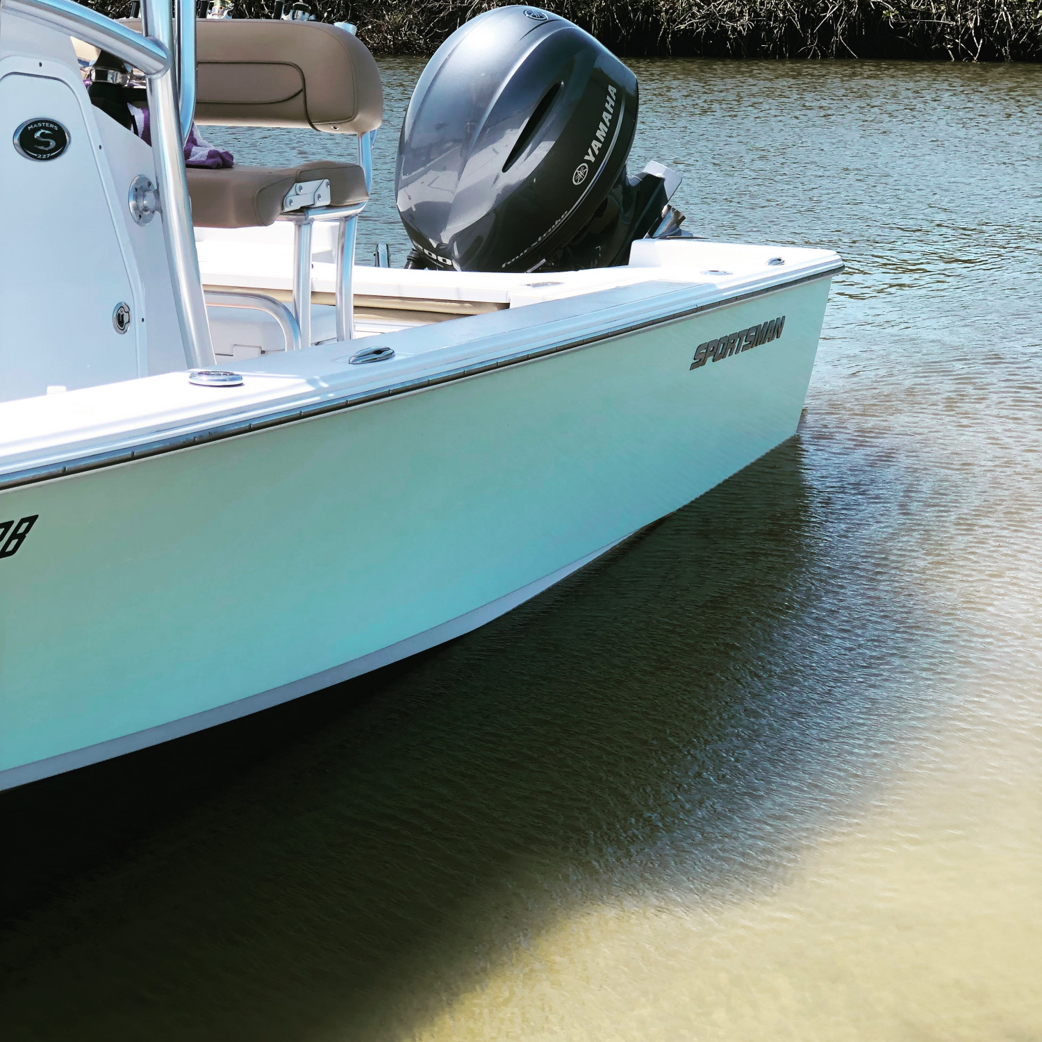 Title: Me and my baby - On board their Sportsman Masters 227 Bay Boat - Location: Ponce Inlet Florida. Participating in the Photo Contest #SportsmanMay2018