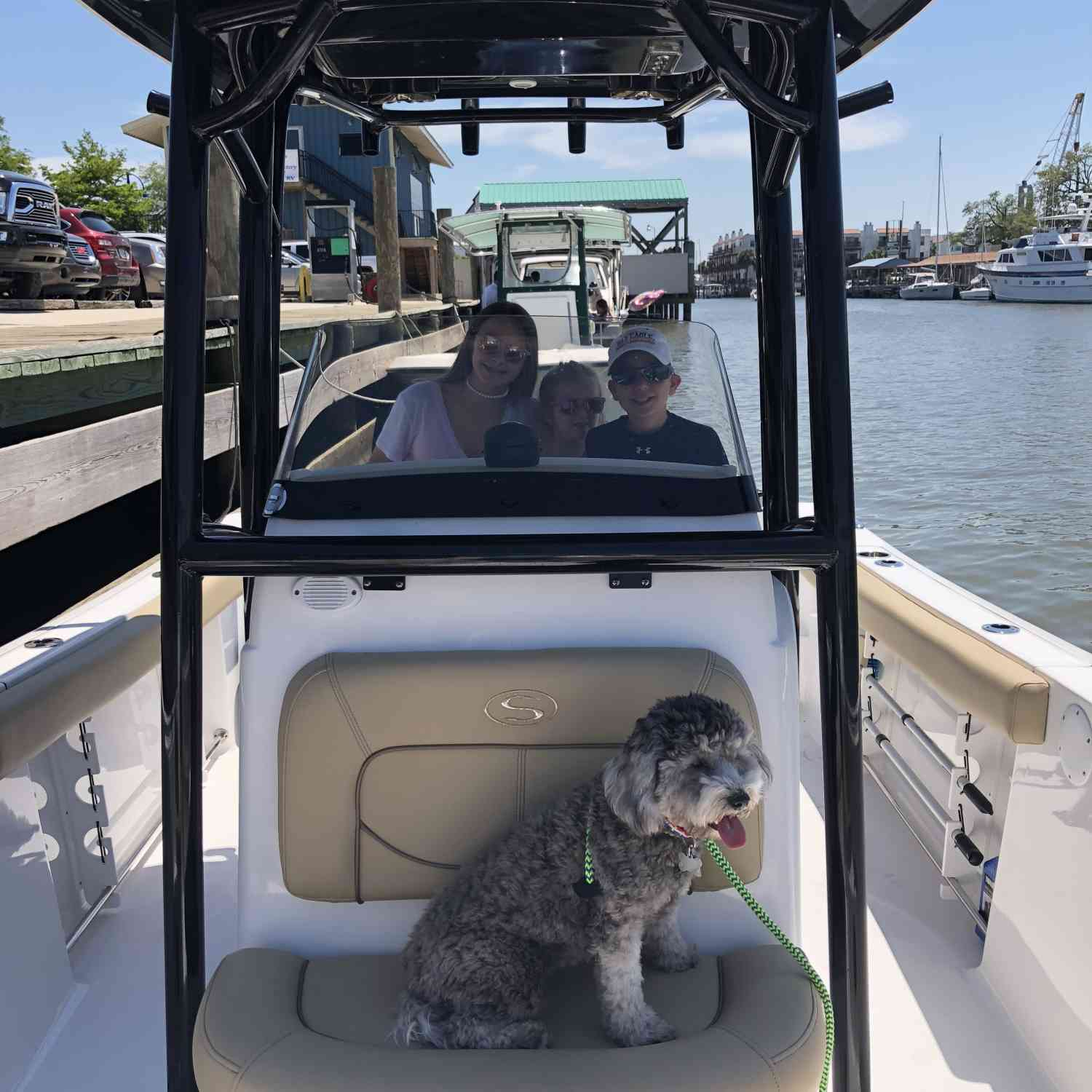 Title: Doggie Days - On board their Sportsman Open 232 Center Console - Location: New Orleans, La. Participating in the Photo Contest #SportsmanMay2018