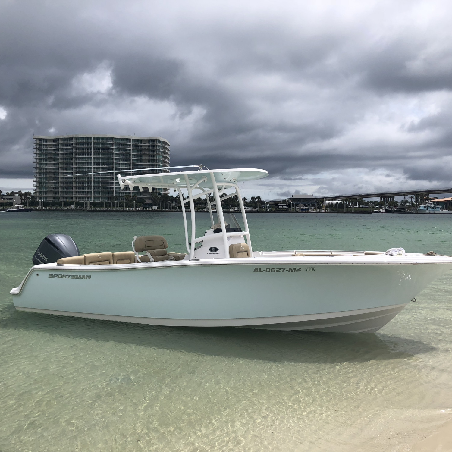 Title: Family Time - On board their Sportsman Heritage 231 Center Console - Location: Orange Beach, Alabama. Participating in the Photo Contest #SportsmanMay2018