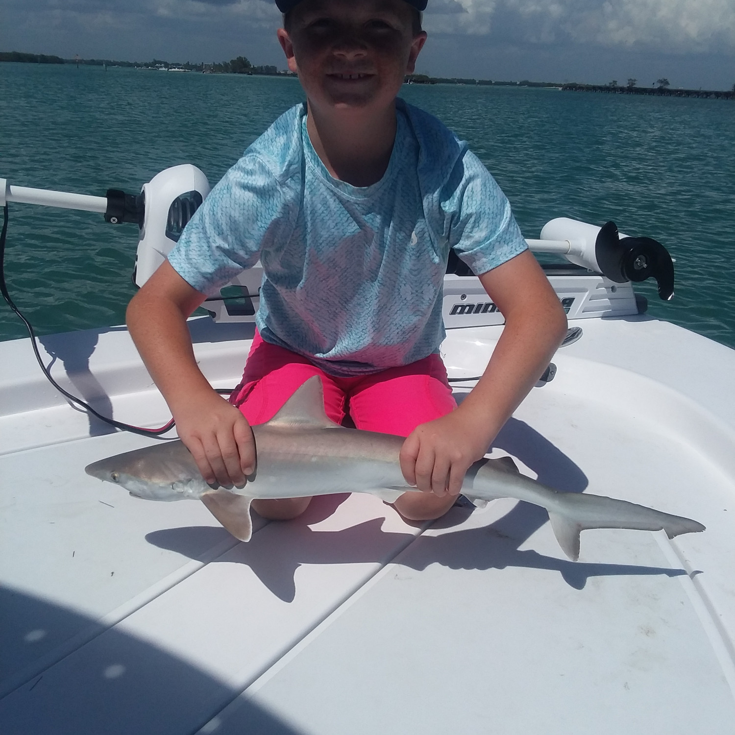 Title: Caught a shark - On board their Sportsman Island Bay 20 Bay Boat - Location: Gasparilla, Fl. Participating in the Photo Contest #SportsmanMay2018
