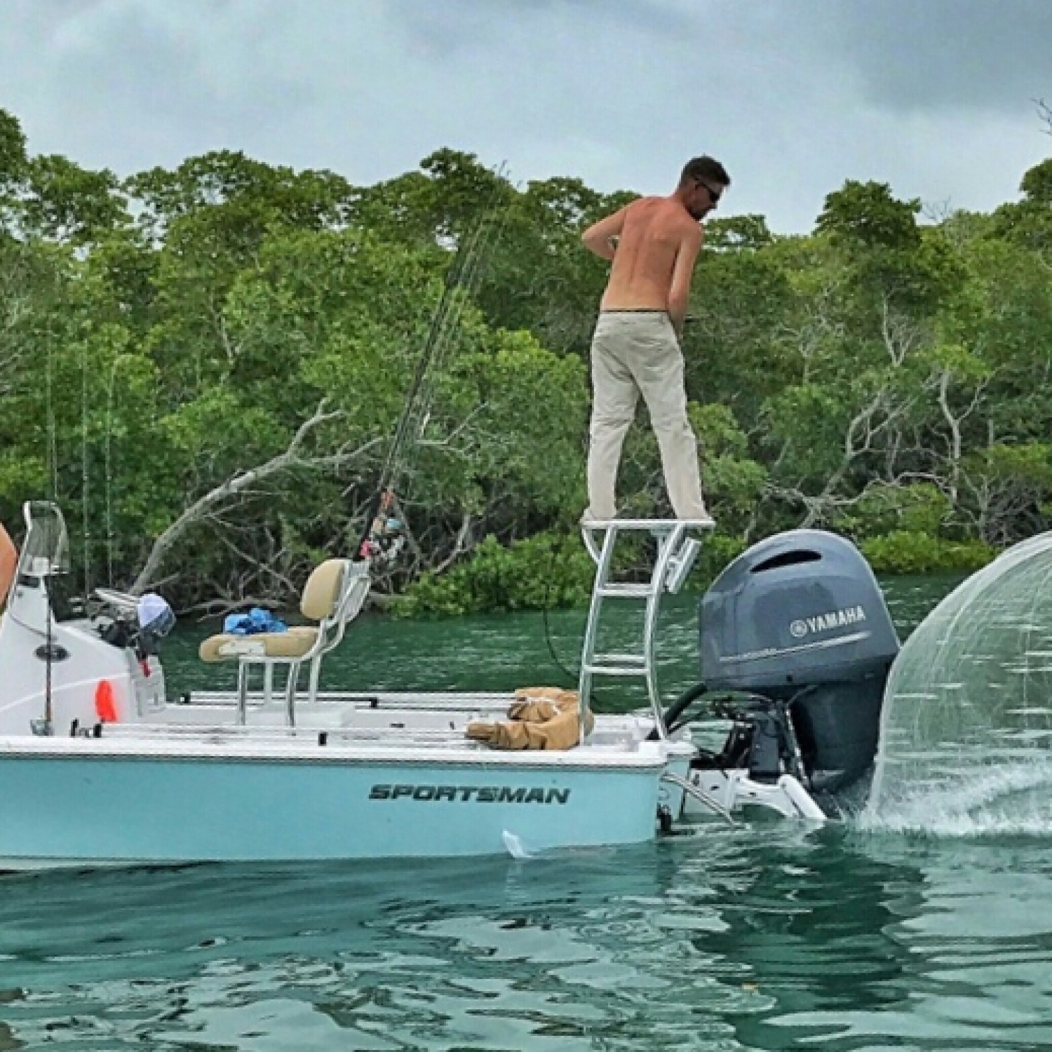 Title: #pancakes - On board their Sportsman Tournament 214 Bay Boat - Location: Key West, FL. Participating in the Photo Contest #SportsmanMay2018