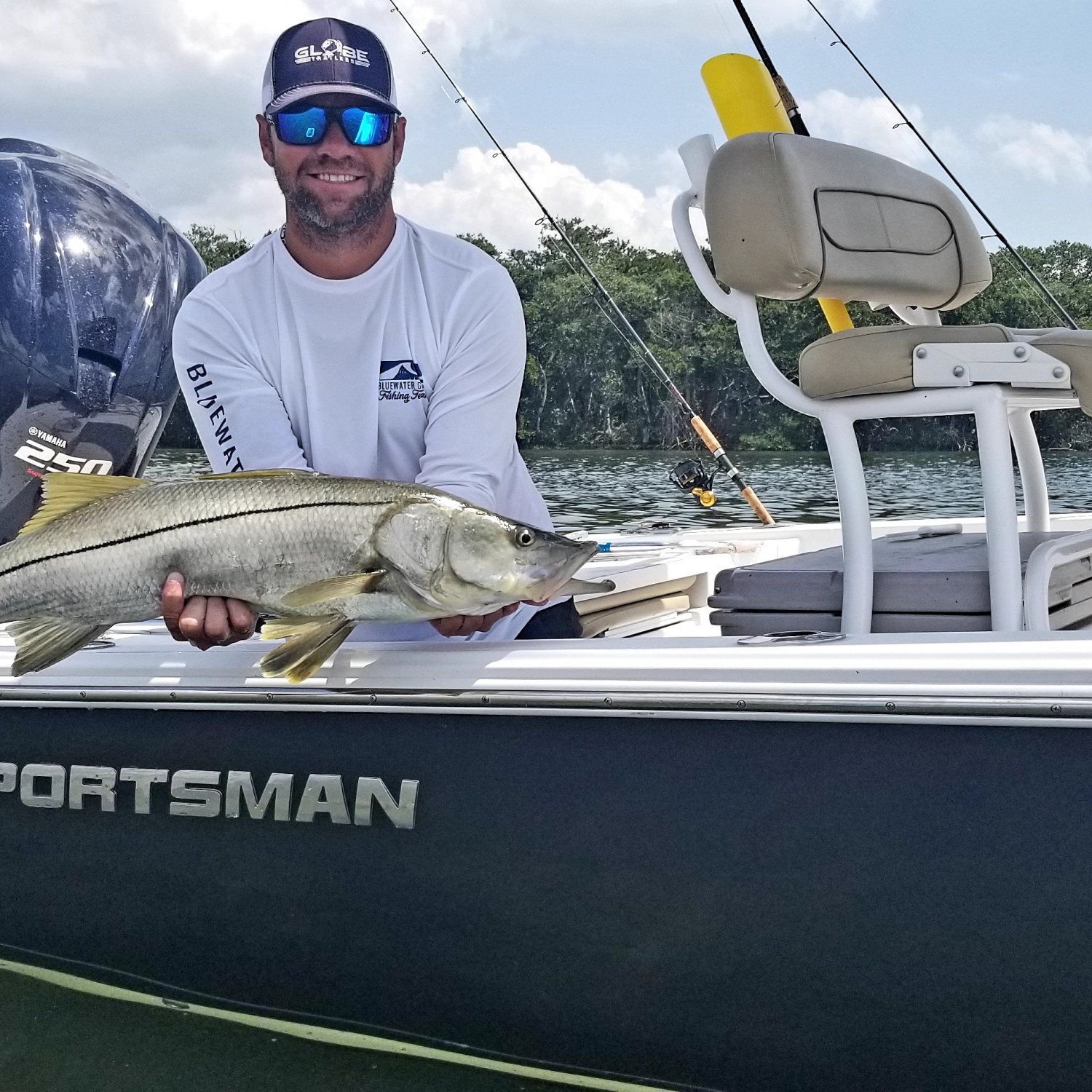 Title: Slaying the big girls - On board their Sportsman Tournament 234 Bay Boat - Location: Sarasota, FL. Participating in the Photo Contest #SportsmanMay2018
