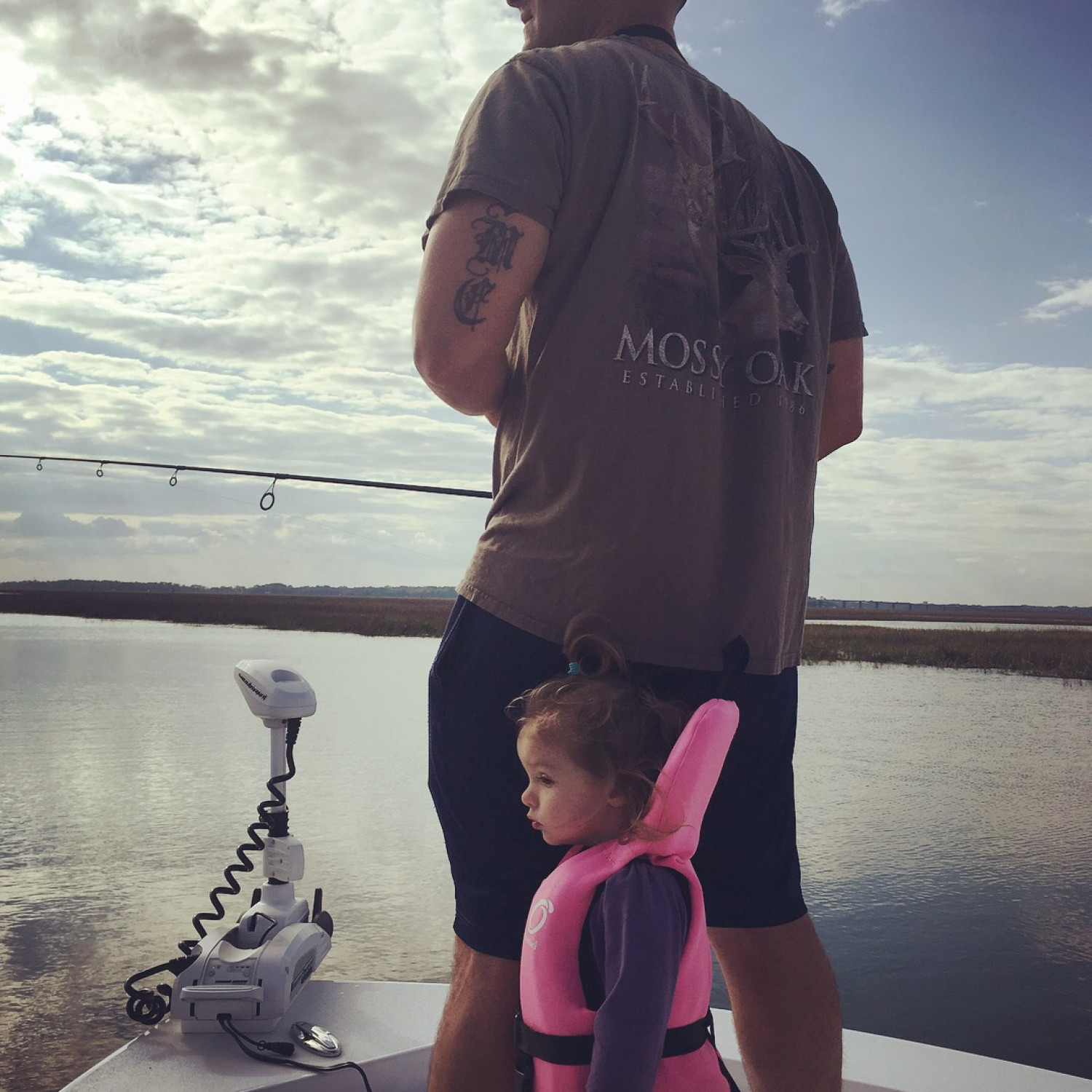Title: Chasing tails - On board their Sportsman Masters 227 Bay Boat - Location: Beaufort SC. Participating in the Photo Contest #SportsmanMay2018