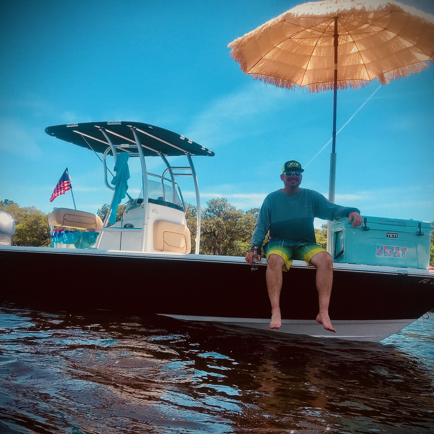 Title: My tiki on the river - On board their Sportsman Masters 227 Bay Boat - Location: Old Town Florida. Participating in the Photo Contest #SportsmanMay2018
