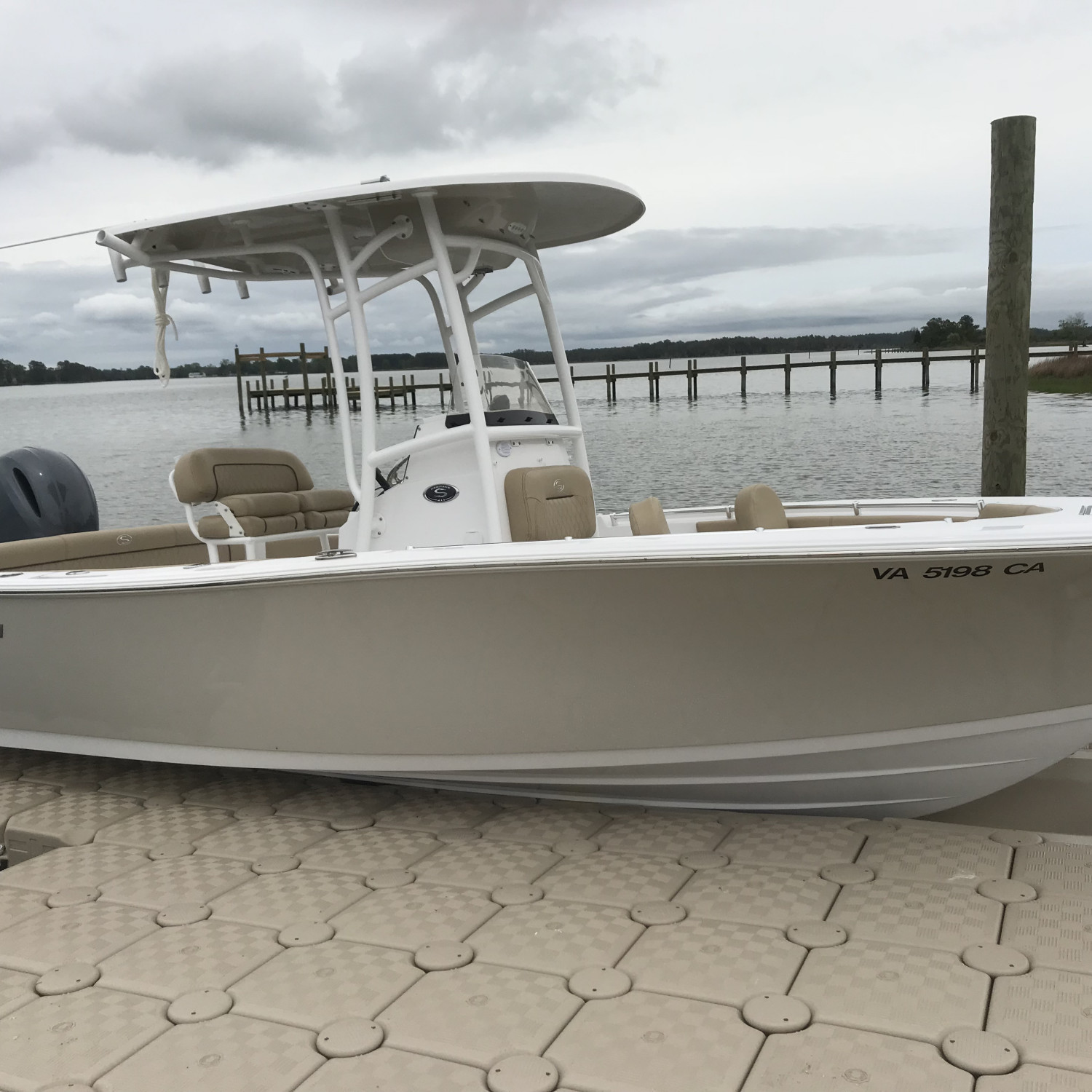 Title: New toy docked - On board their Sportsman Heritage 211 Center Console - Location: Gloucester, va. Participating in the Photo Contest #SportsmanMay2018