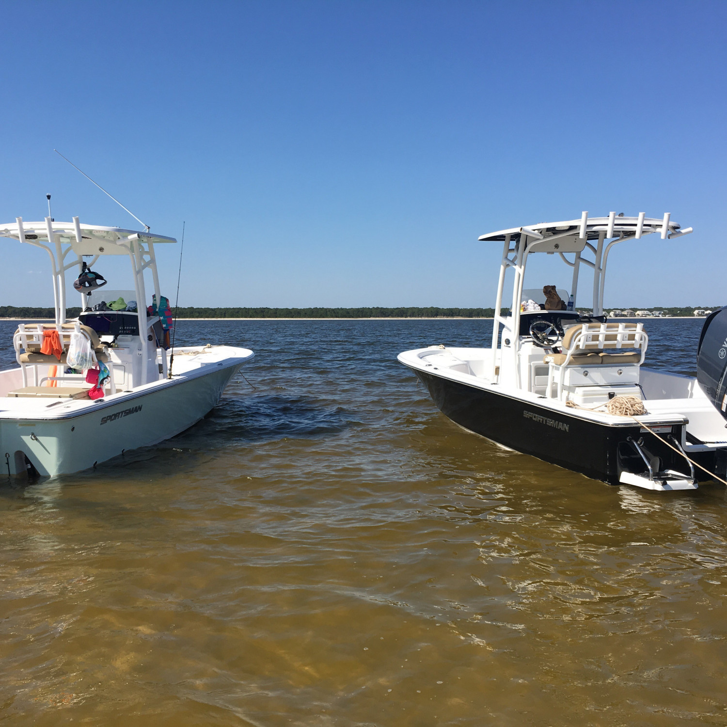 Title: Down time - On board their Sportsman Masters 247 Bay Boat - Location: Dauphin Island, AL. Participating in the Photo Contest #SportsmanMay2018
