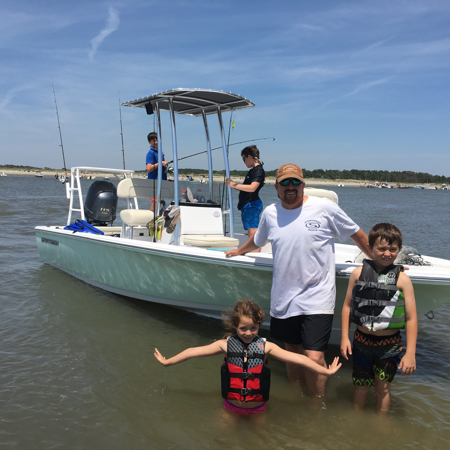 Title: Family Fun - On board their Sportsman Island Bay 20 Bay Boat - Location: Charleston,SC. Participating in the Photo Contest #SportsmanMay2018