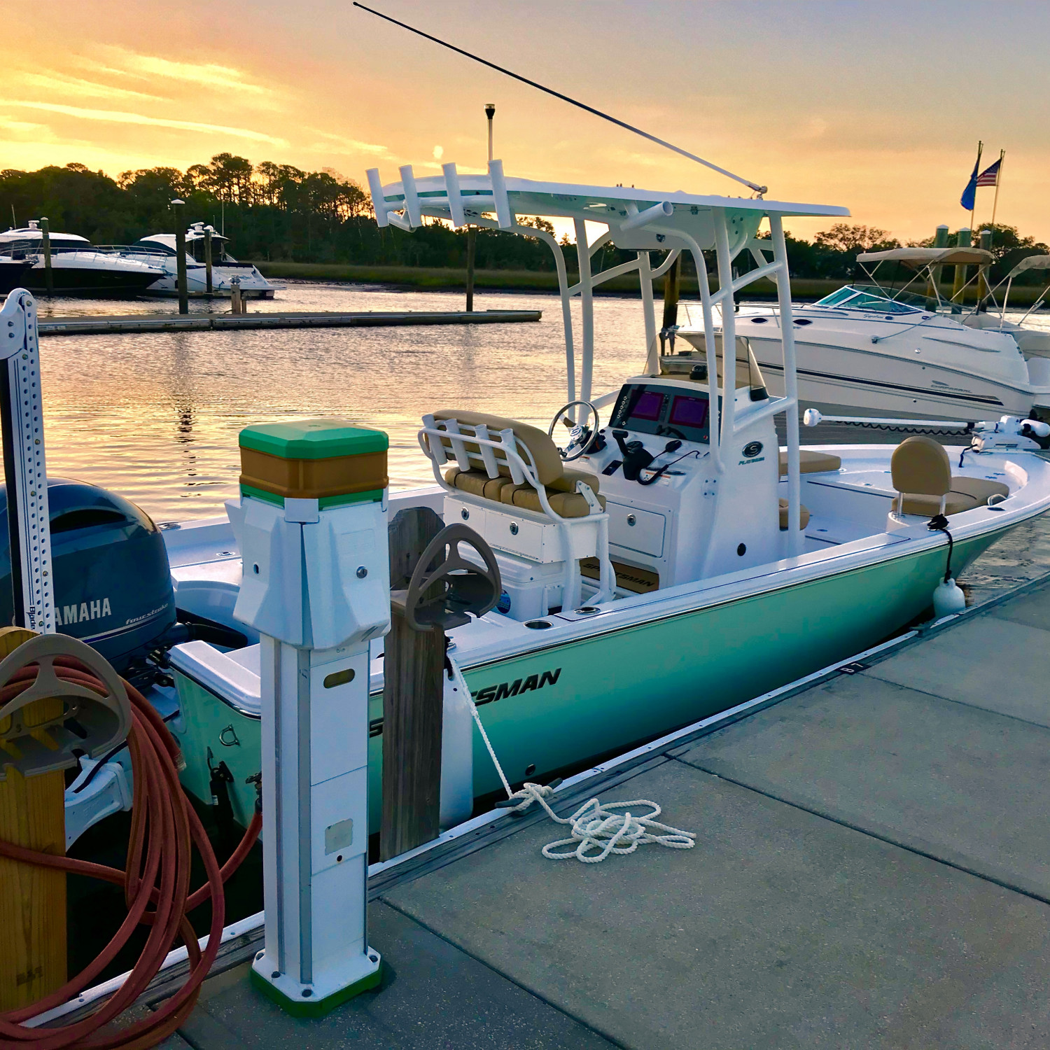 Title: First Sunset - On board their Sportsman Masters 227 Bay Boat - Location: Jax Beach, FL. Participating in the Photo Contest #SportsmanMay2018