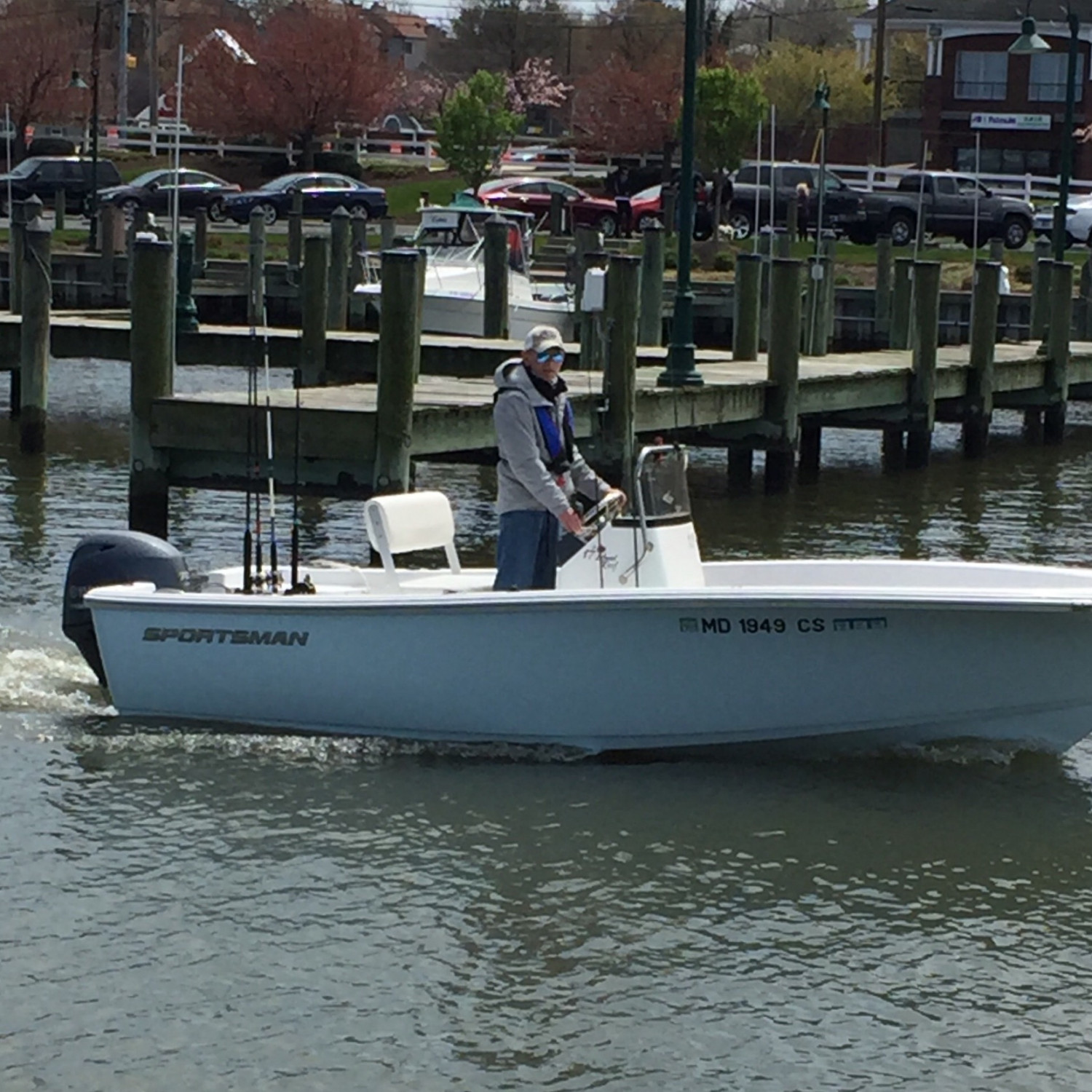 Title: Heading out to find some Rockfish - On board their Sportsman Island Reef 17 Center Console - Location: Chesapeake Beach MD. Participating in the Photo Contest #SportsmanMay2018