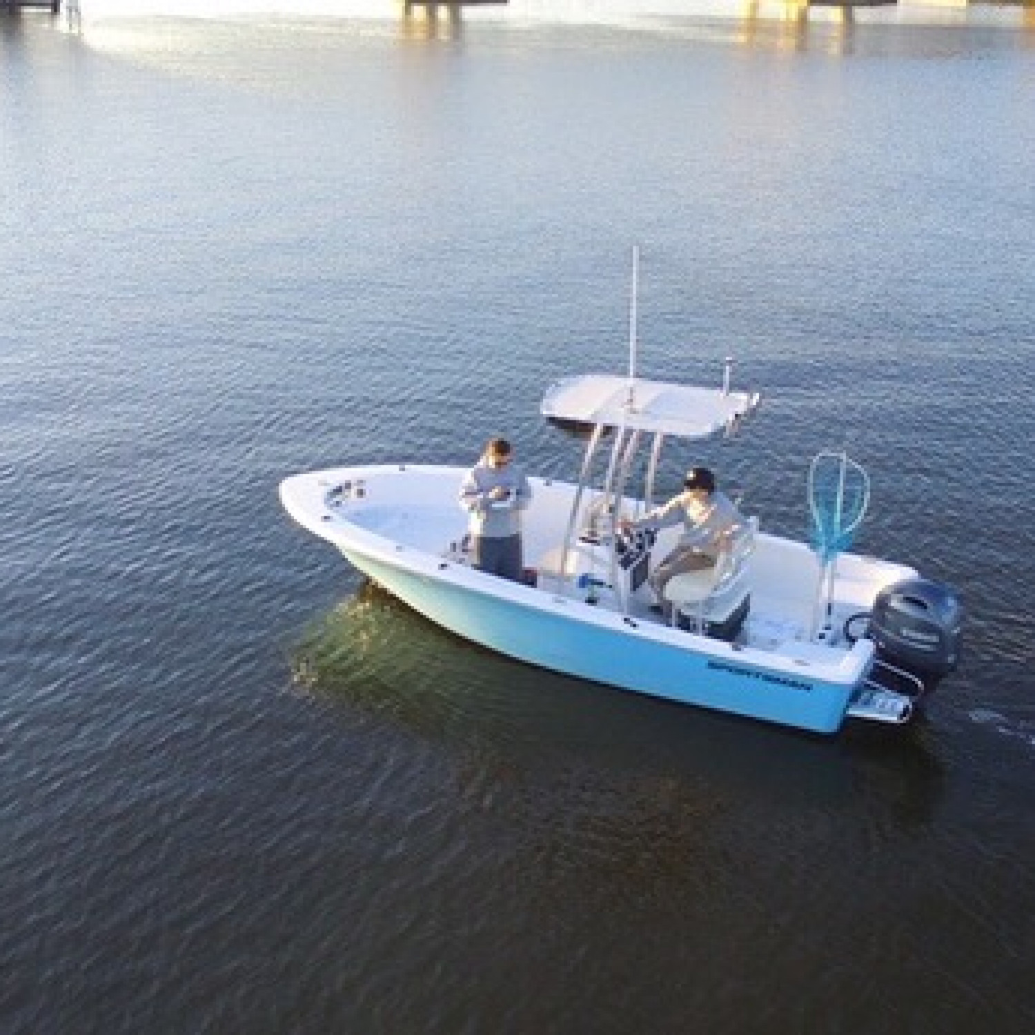 Title: Drone shit island reef 19 - On board their Sportsman Island Reef 19 Center Console - Location: Manasquan nj. Participating in the Photo Contest #SportsmanMay2018