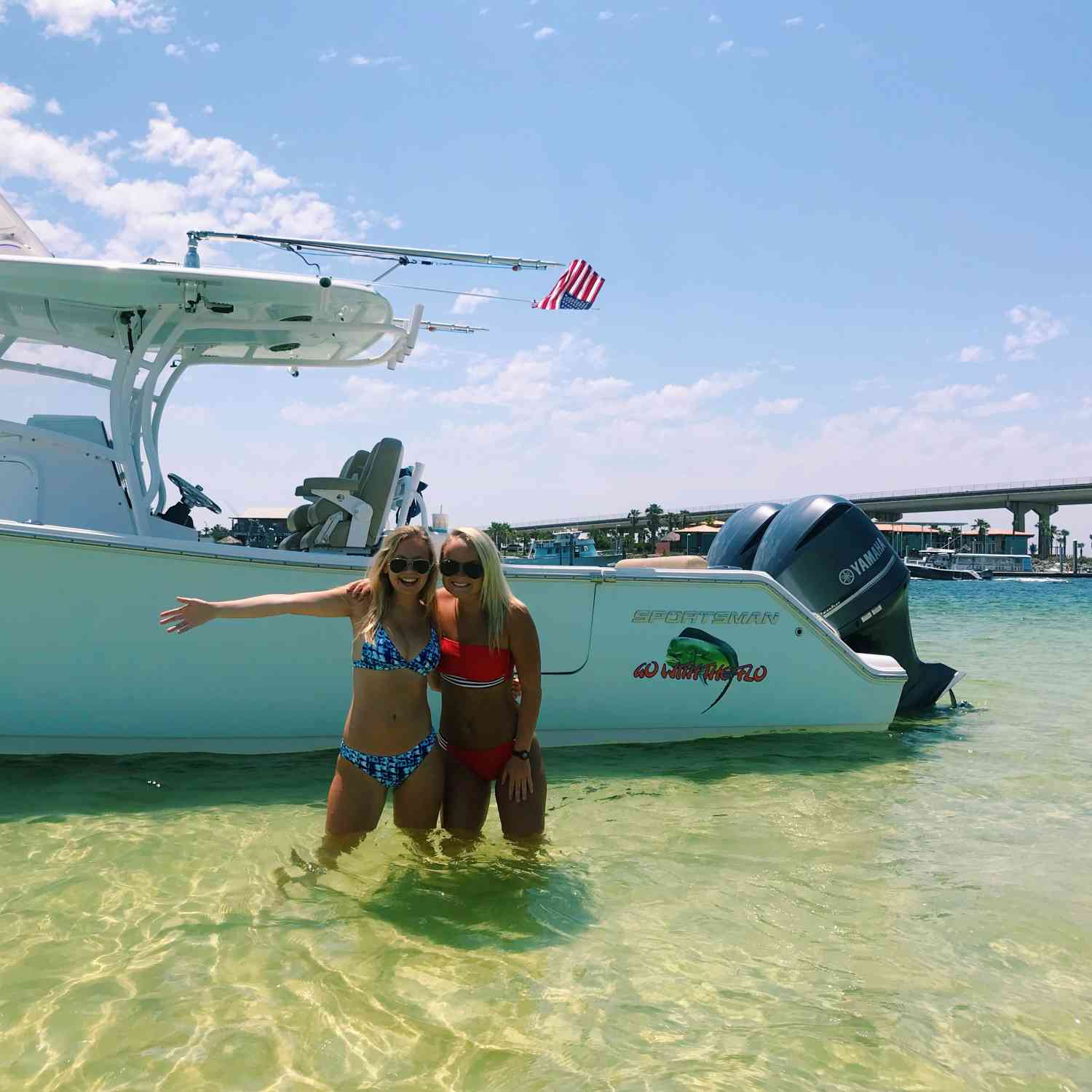 Title: Sunday Funday on the Island - On board their Sportsman Open 312 Center Console - Location: Robinson Island Orange Beach, AL. Participating in the Photo Contest #SportsmanMay2018