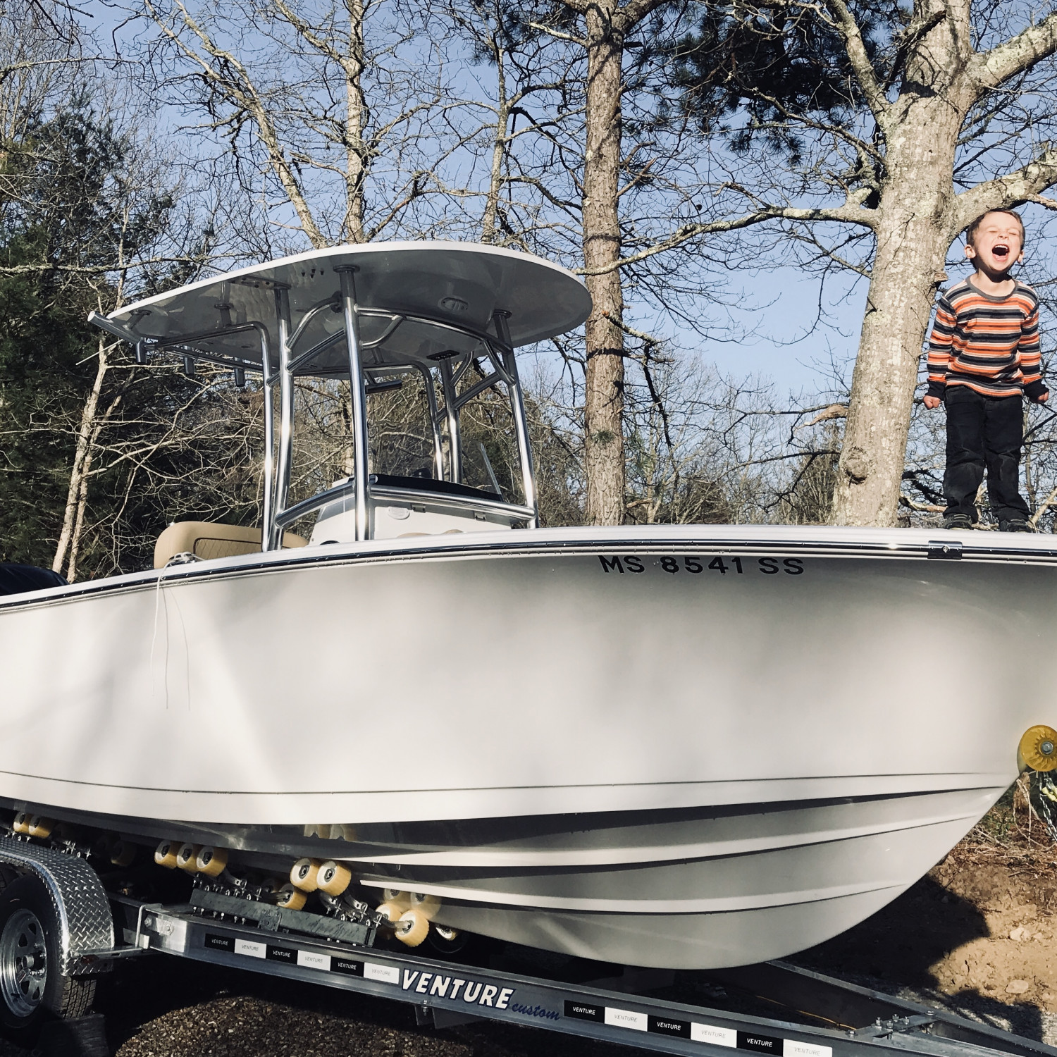 Title: Love at first sight - On board their Sportsman Open 232 Center Console - Location: Barnstable, MA. Participating in the Photo Contest #SportsmanMay2018