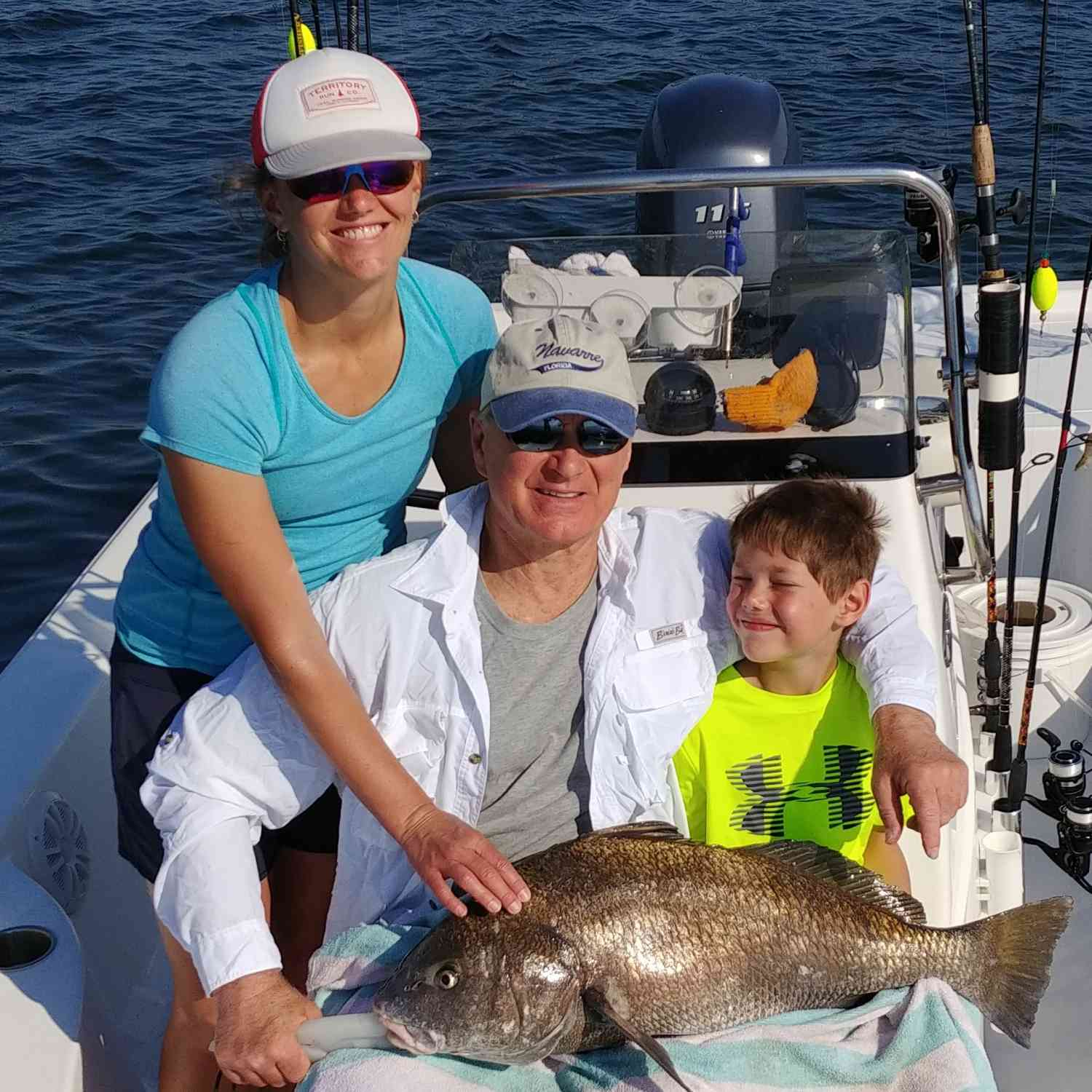 Title: Families that fish together stay together - On board their Sportsman Masters 207 Bay Boat - Location: Navarre Florida. Participating in the Photo Contest #SportsmanMay2018
