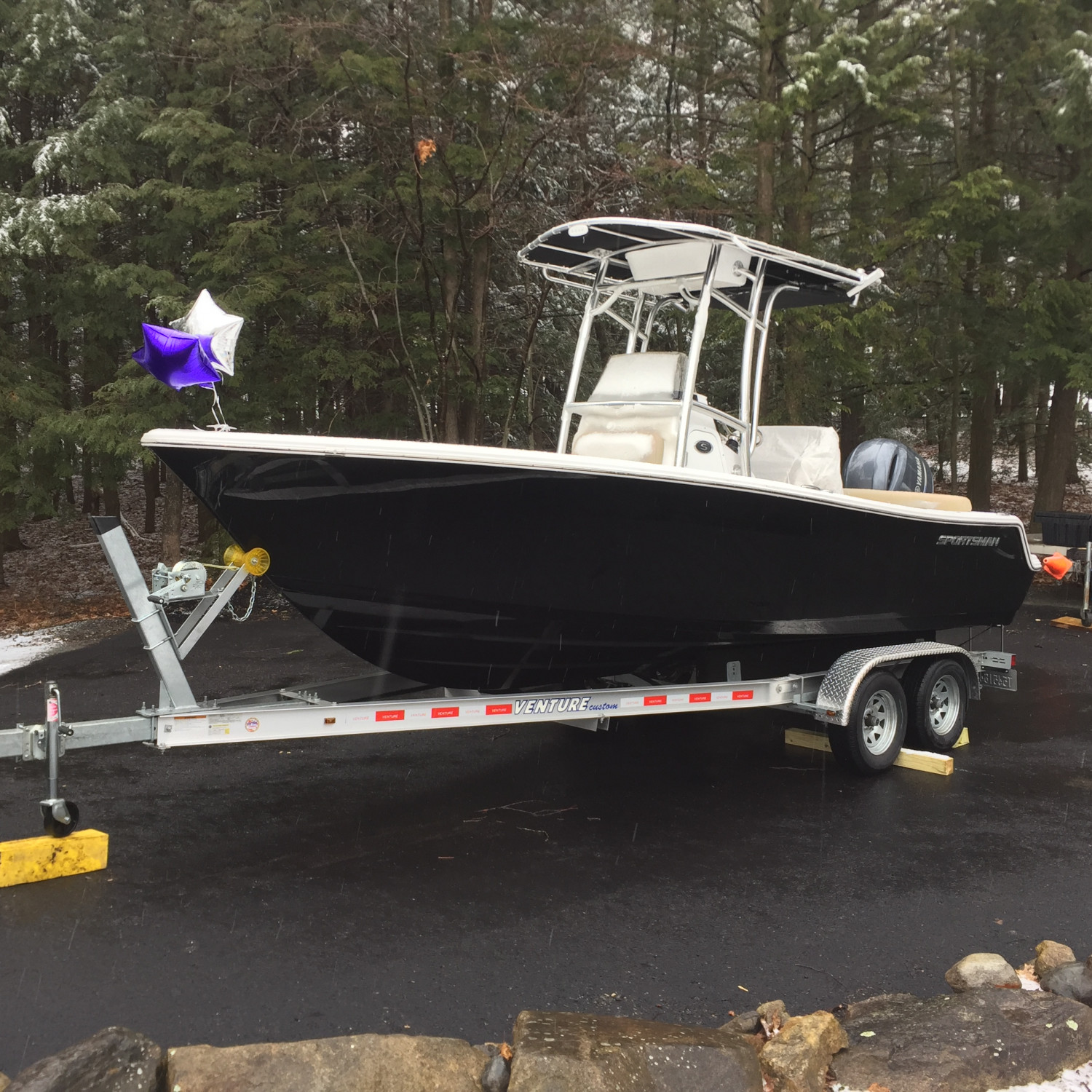 Title: Sick of snow - On board their Sportsman Heritage 211 Center Console - Location: Hudson New Hampshire. Participating in the Photo Contest #SportsmanMay2018