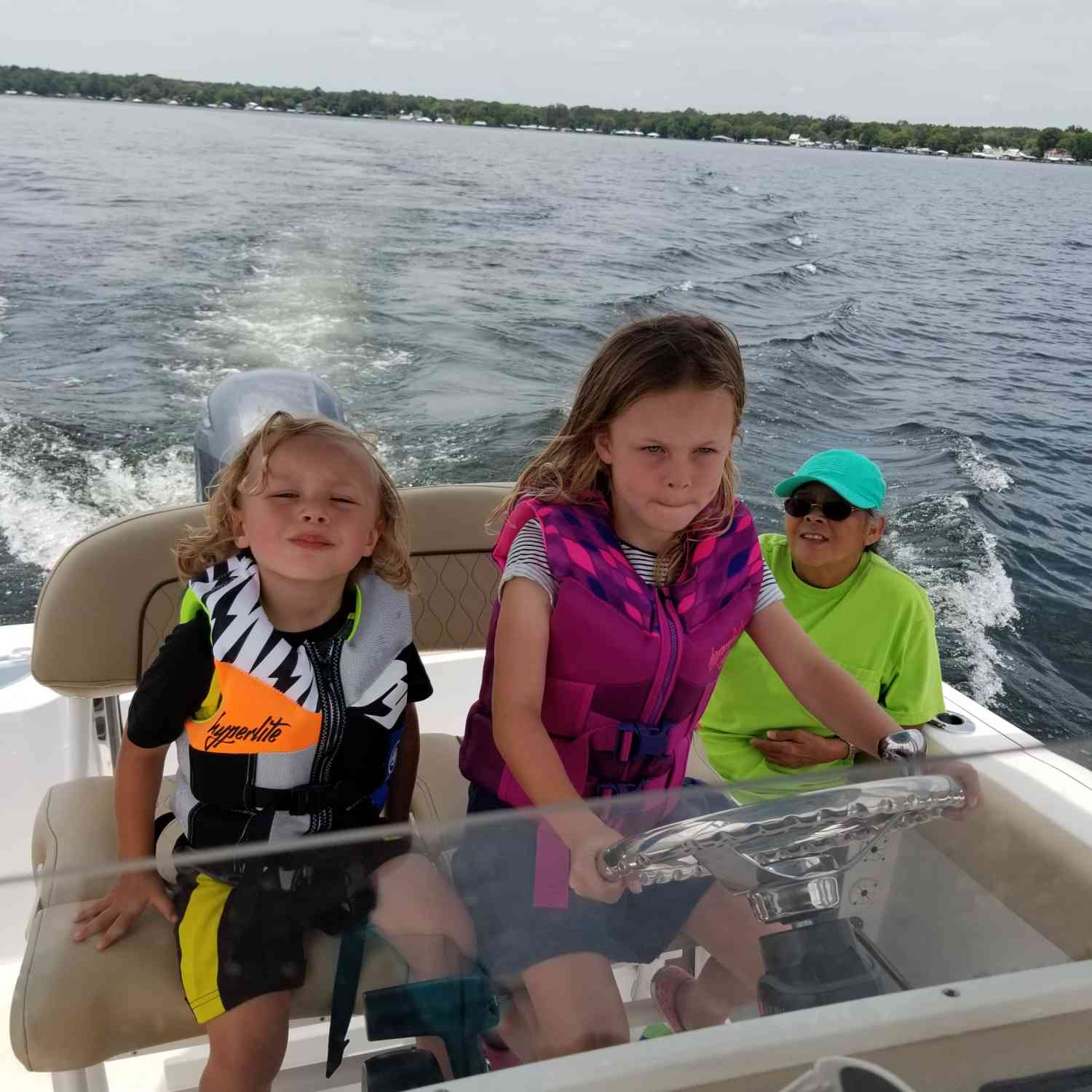 Title: Grandma & Her Crew - On board their Sportsman Open 212 Center Console - Location: Middleburg, FL. Participating in the Photo Contest #SportsmanNovember2018